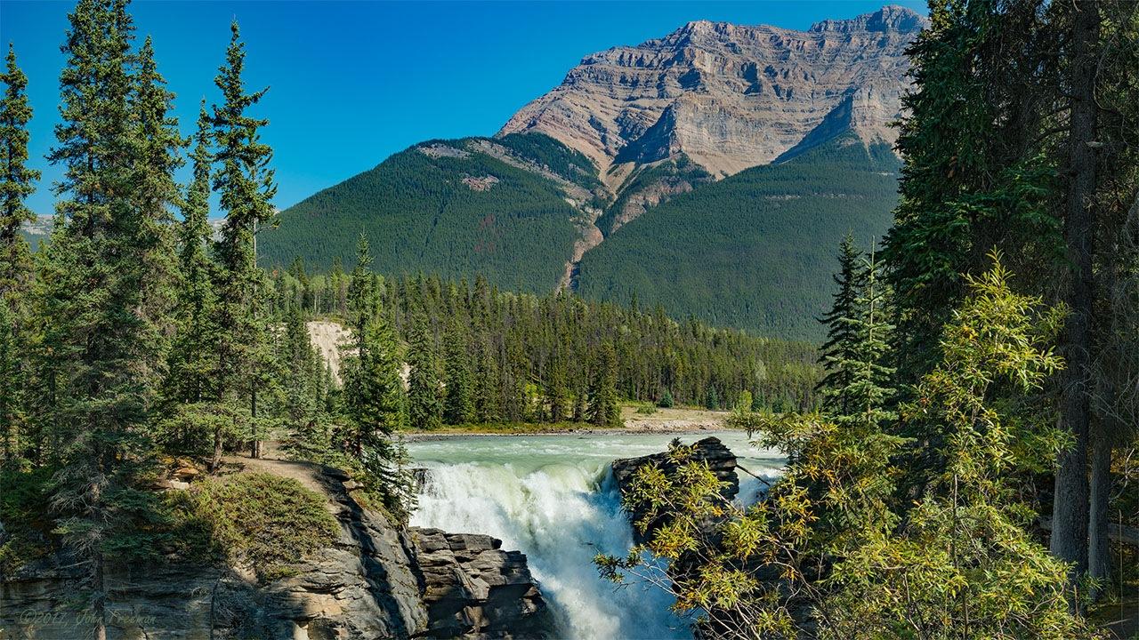 Athabasca Falls by John Freeman