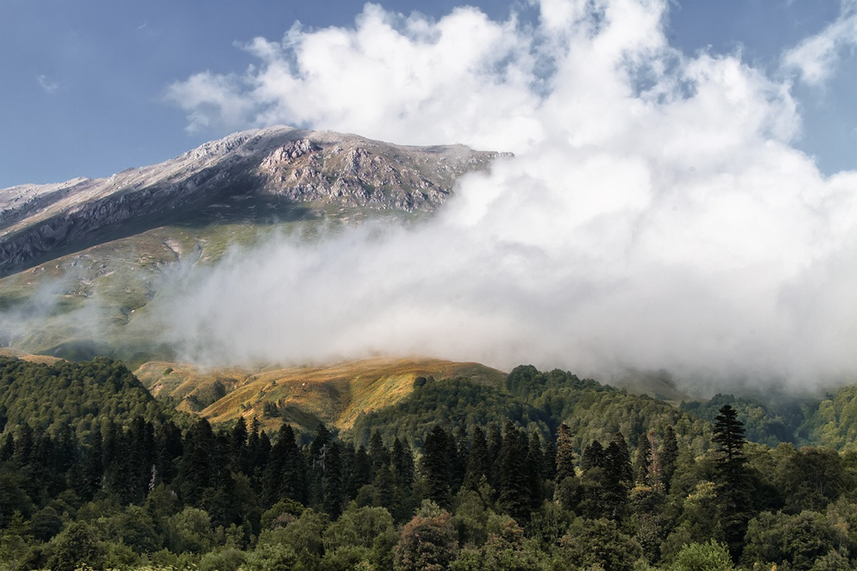 Caucasus in the clouds by Kurbesov