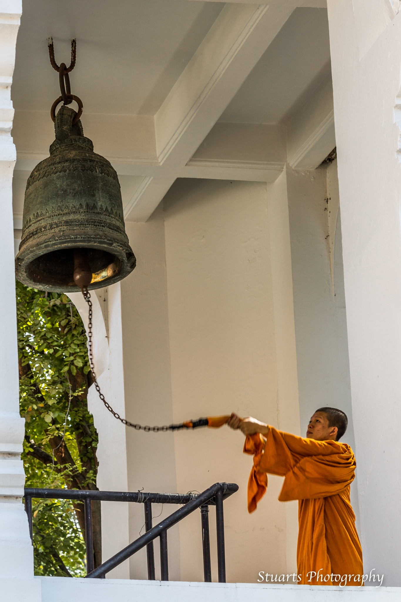 Bell ringing monk by Stuart Jamieson