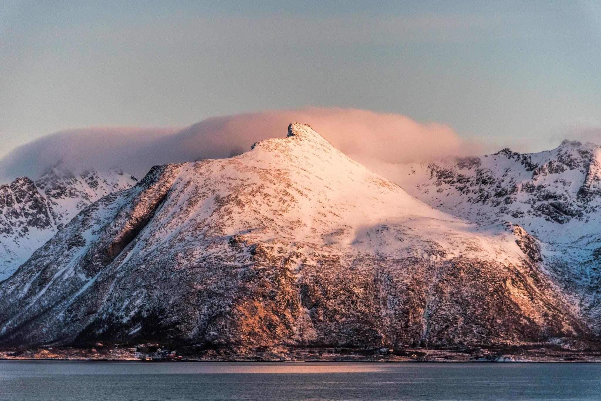 Shining mountain by Angela Blasche