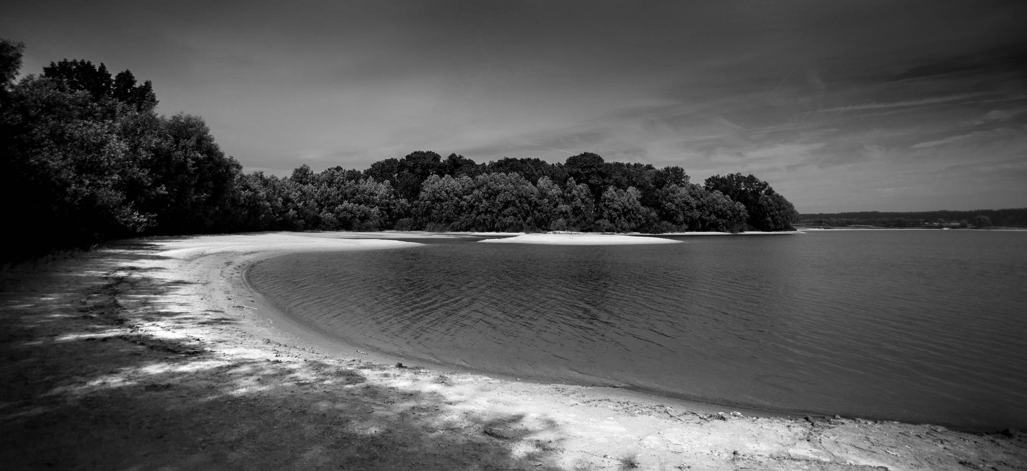 Holland: the beach B&W  by Roy Maas