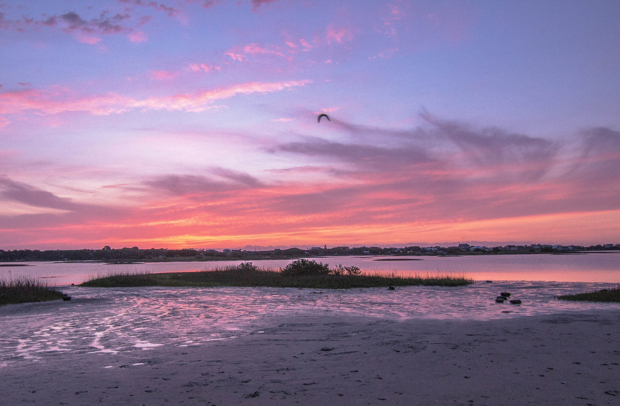 Sun Rising Over Inter Coastal in St. Augustine, Florida by Peter Cavaliere