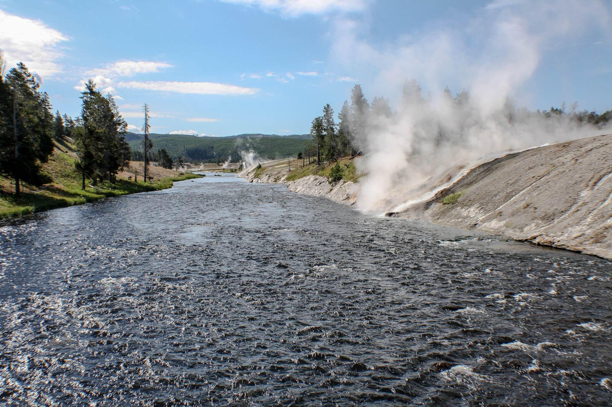 Along One of the Yellowstone Rivers by Peter Cavaliere