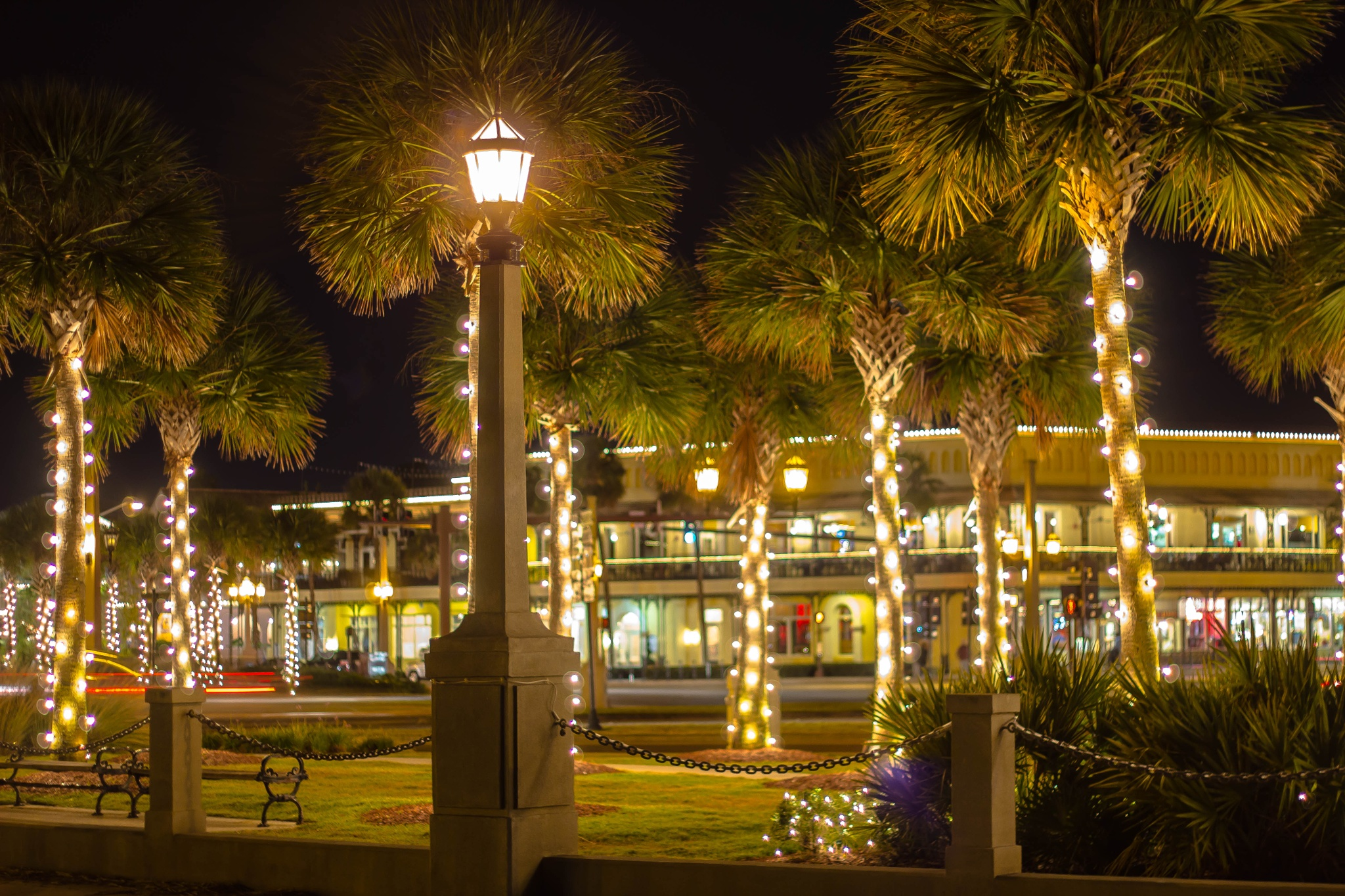 The Christmas Lights of Olde St. Augustine by Peter Cavaliere