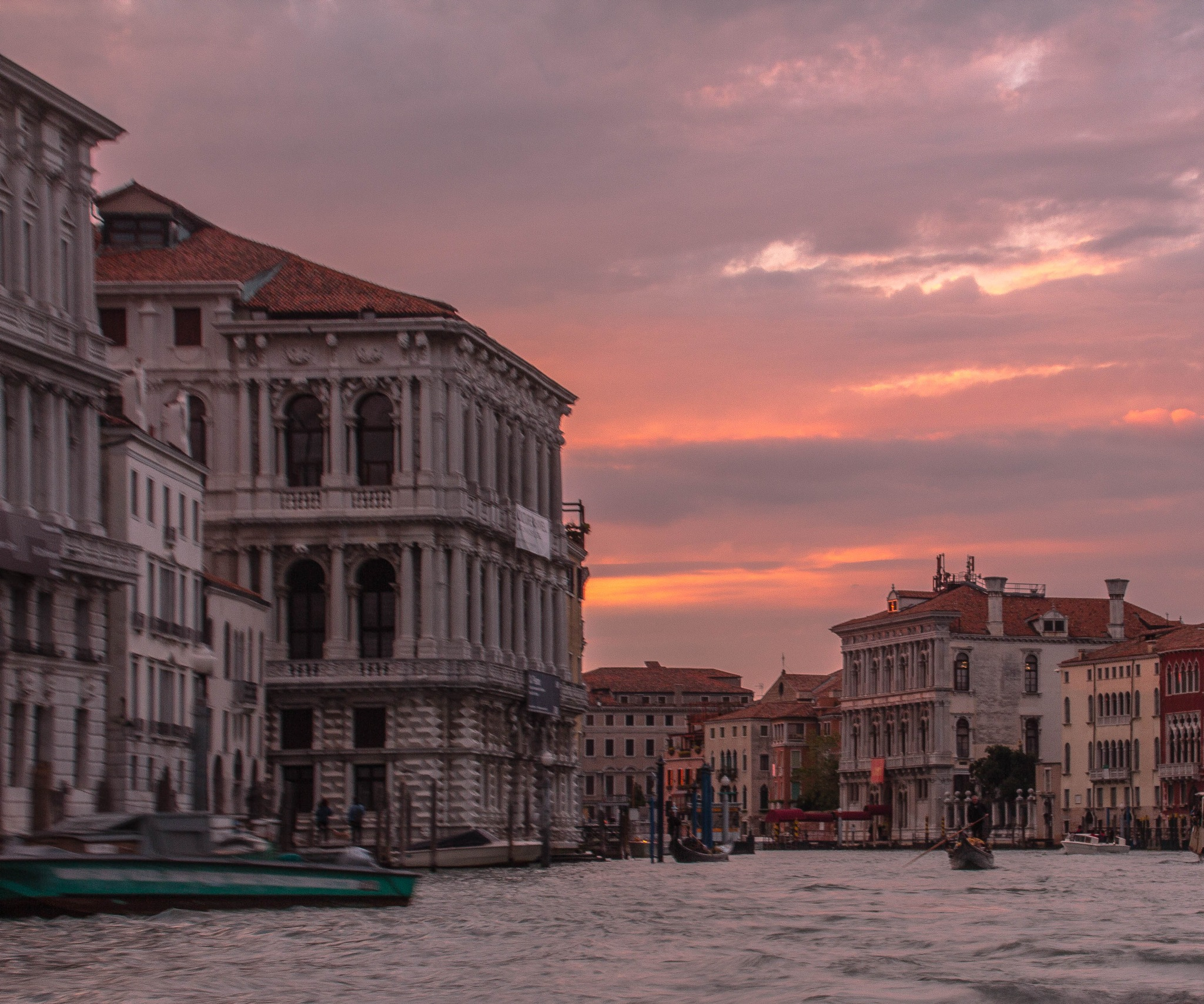 A Peaceful Sunset In Venice by Peter Cavaliere