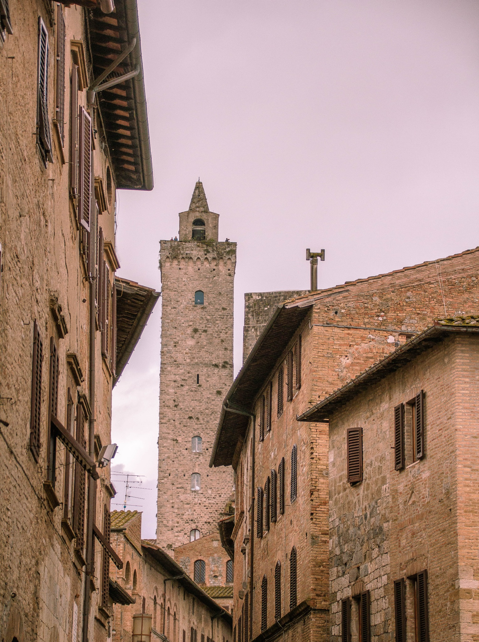 San Gimignano Side Street by Peter Cavaliere