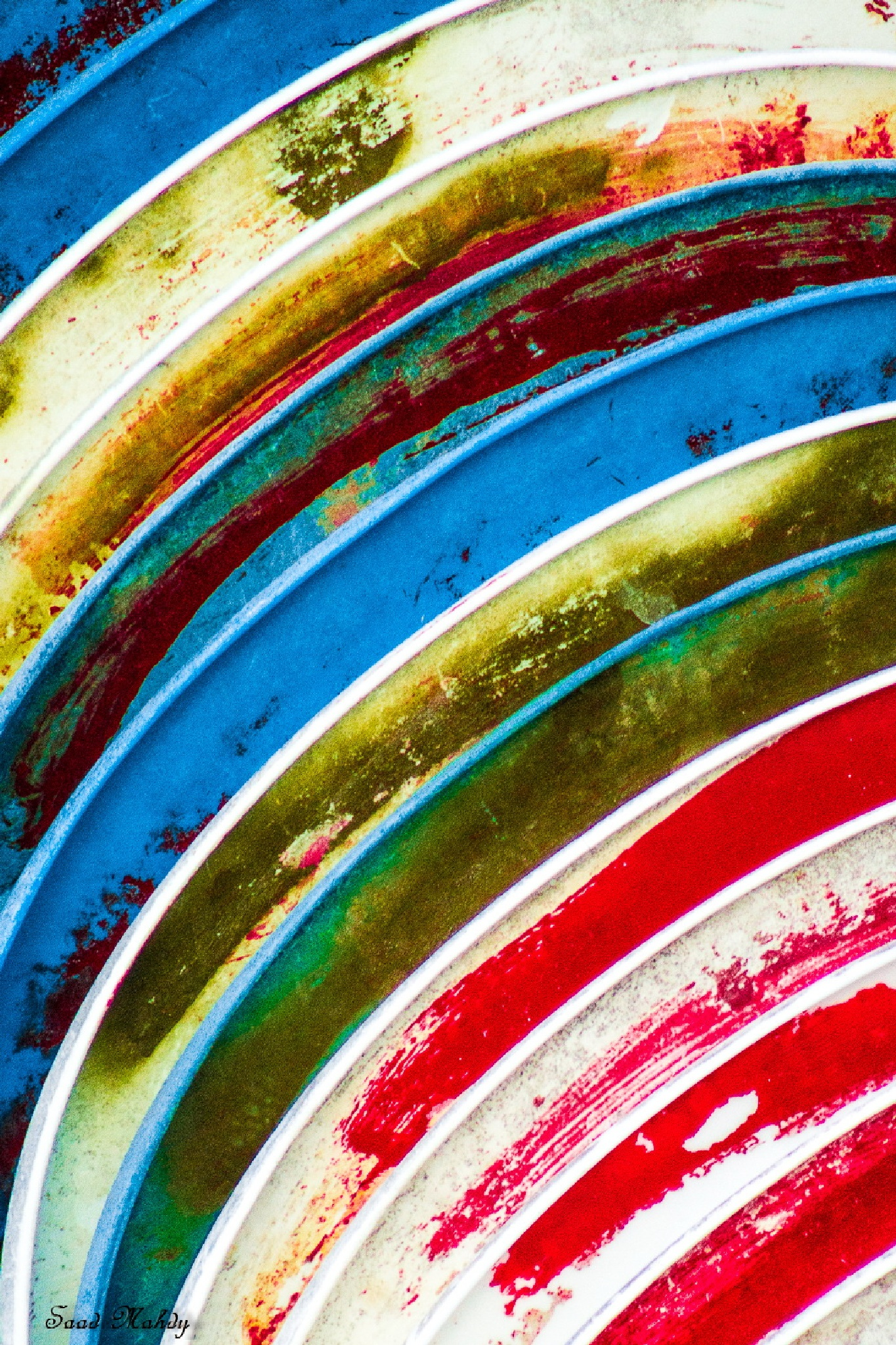 Colors and curves by Saad Mahdy