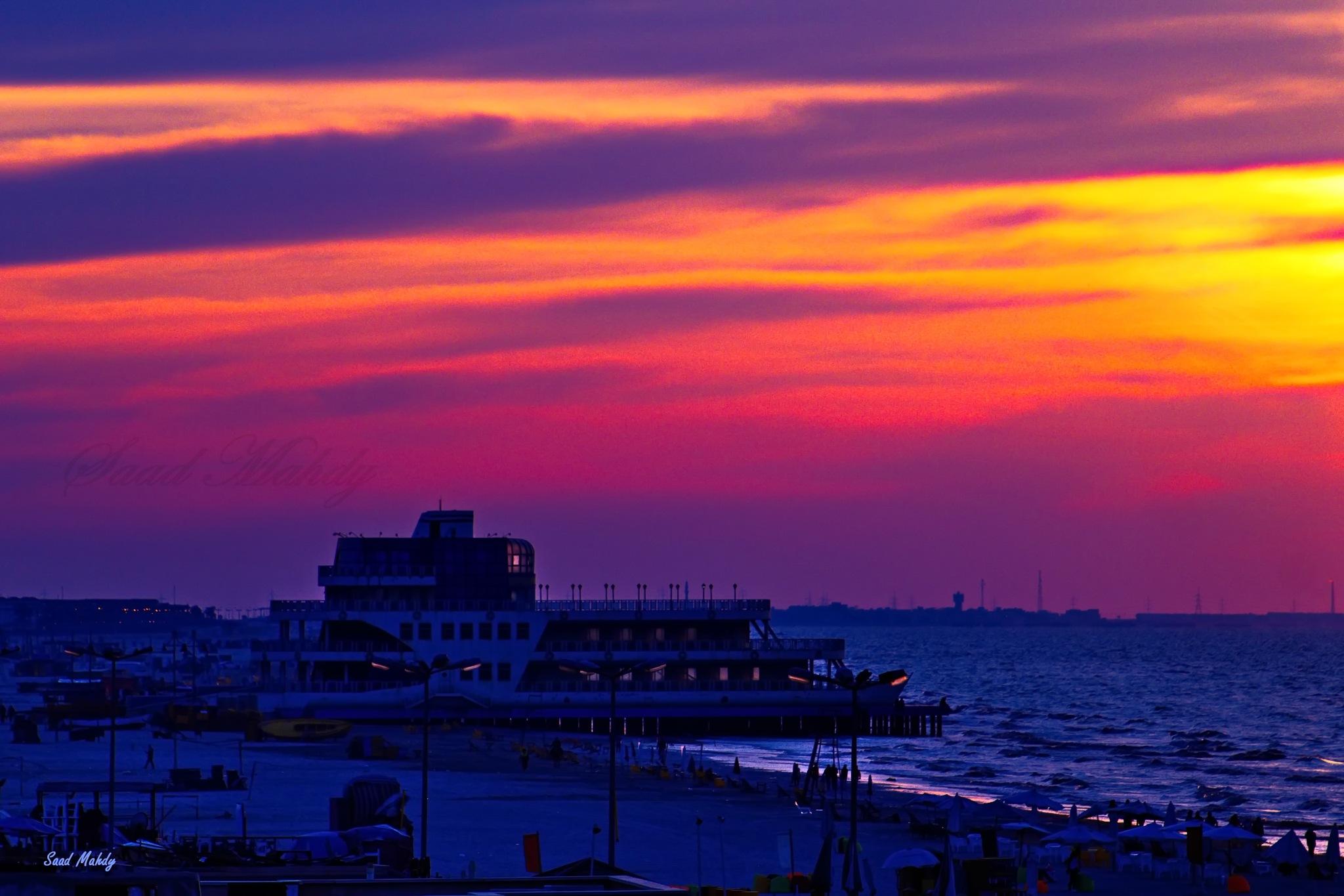 Sunset by Saad Mahdy