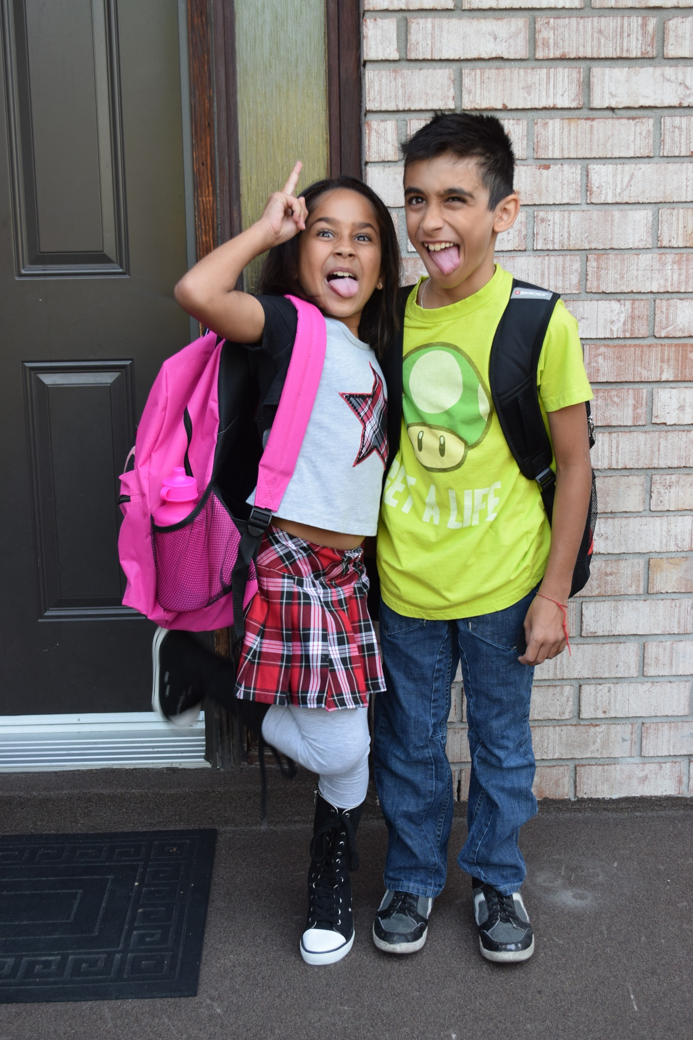 First day of school excitement by Olga Makridina-Bhalla