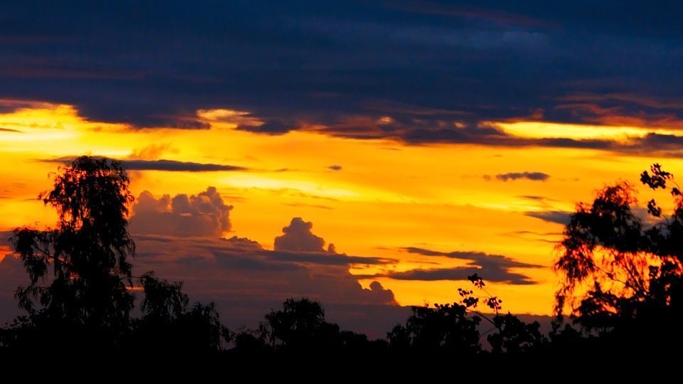 Skyscape including golden light by Syed F Abbas