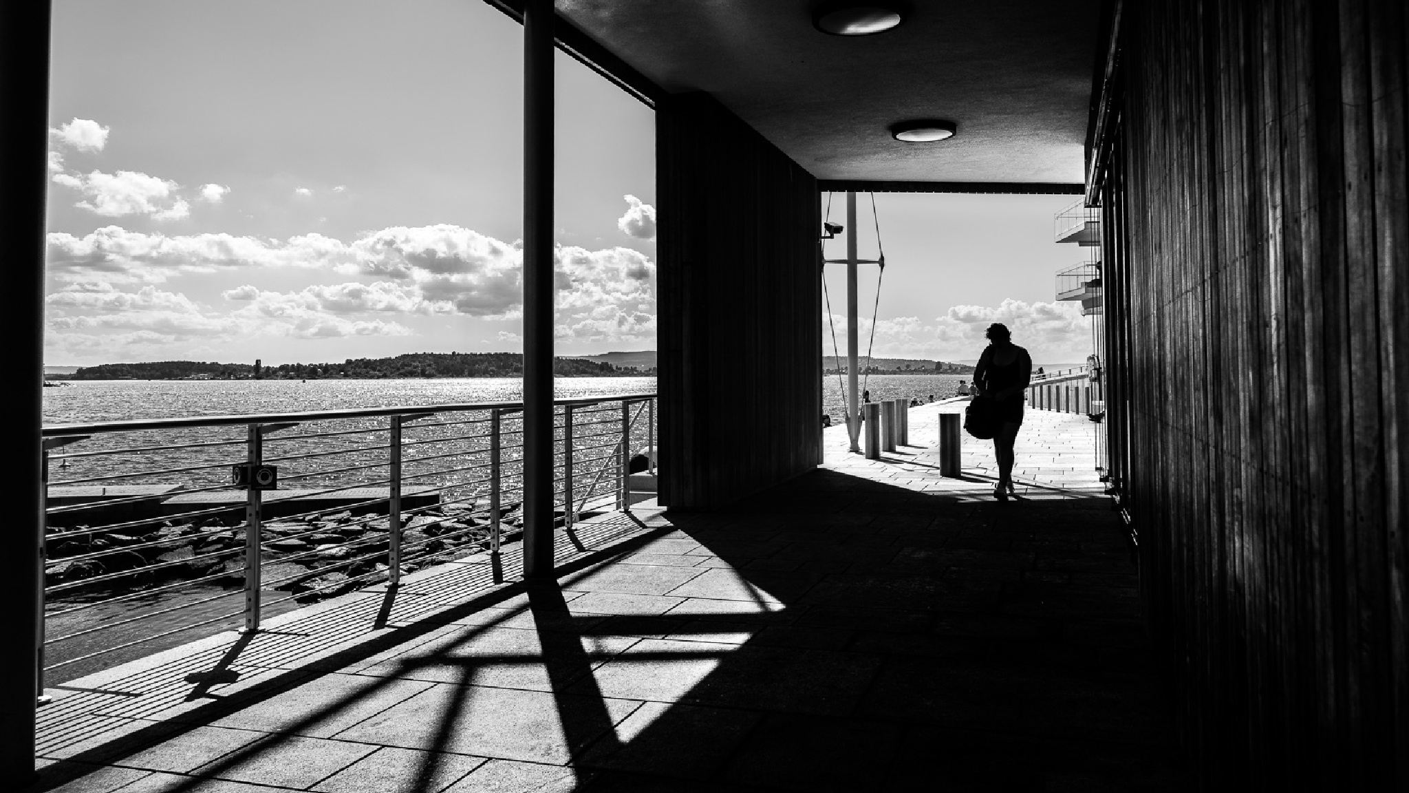 A sunny day - Oslo, Norway - Black and white street photography by Giuseppe Milo