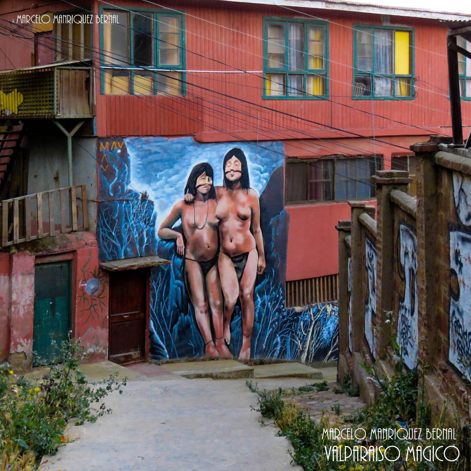 Mural  en las calles  de  Valparaiso by Marcelo Manriquez Bernal