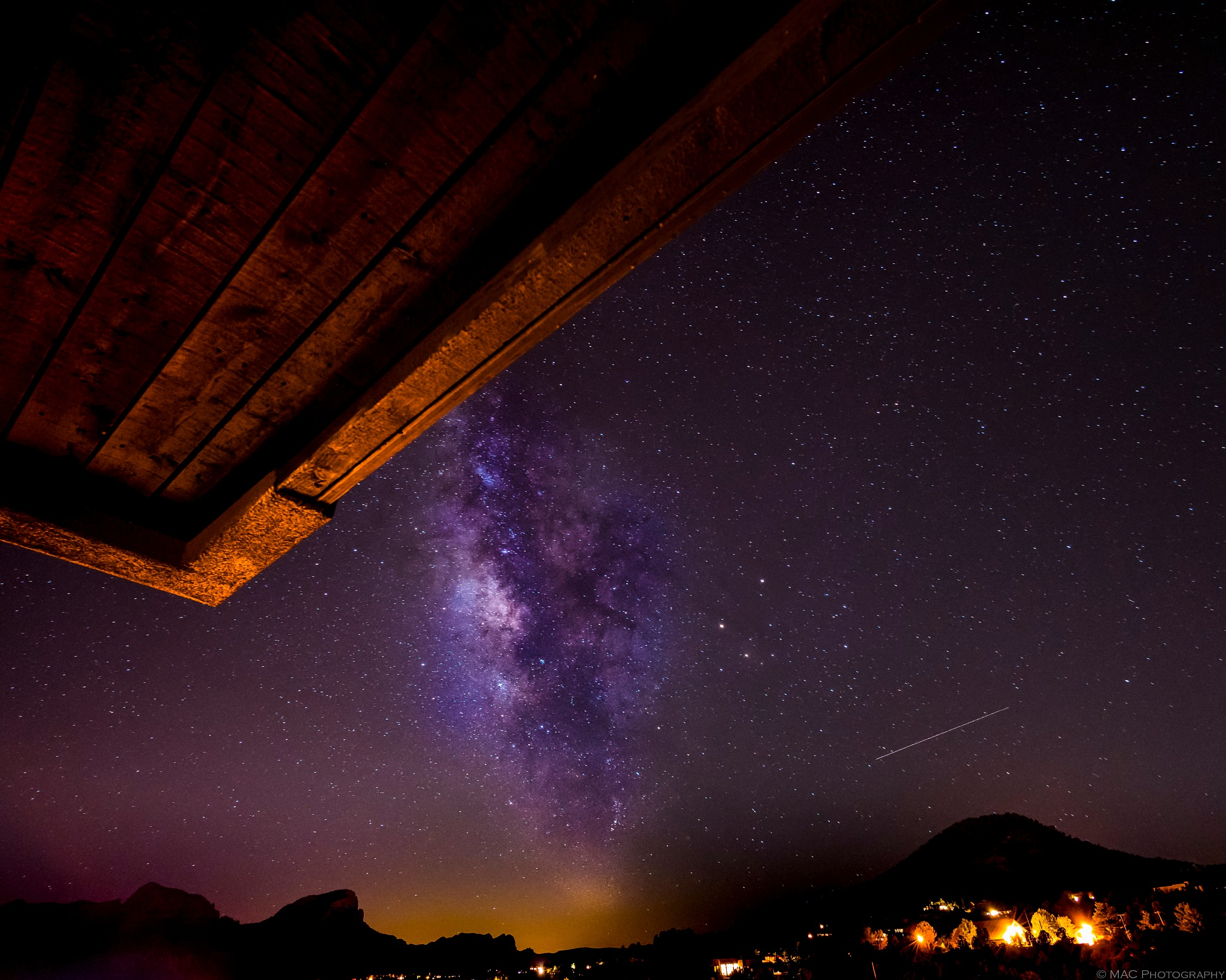The Milky Way From Pinon Pointe IN Sedona by Bob McCormac