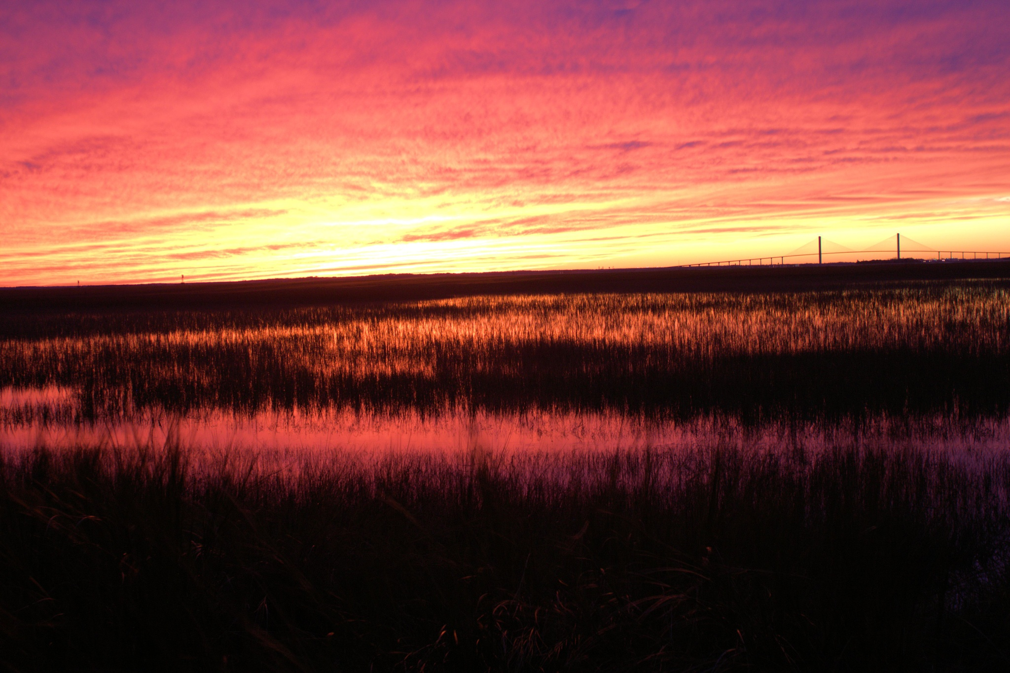 Sunset from the salt marshes of Jekyll Island by Michael McCasland