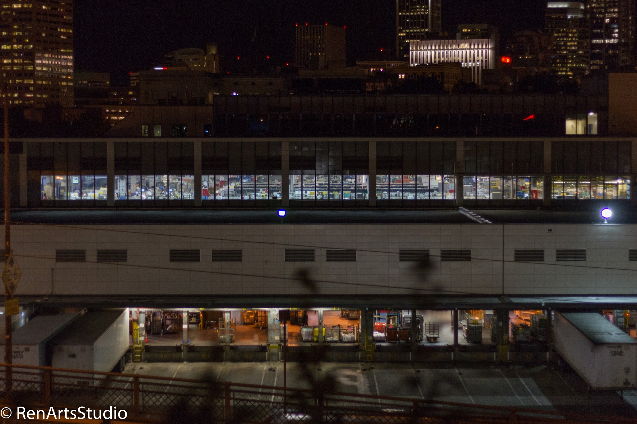 Portland Post Office at Night by renman1
