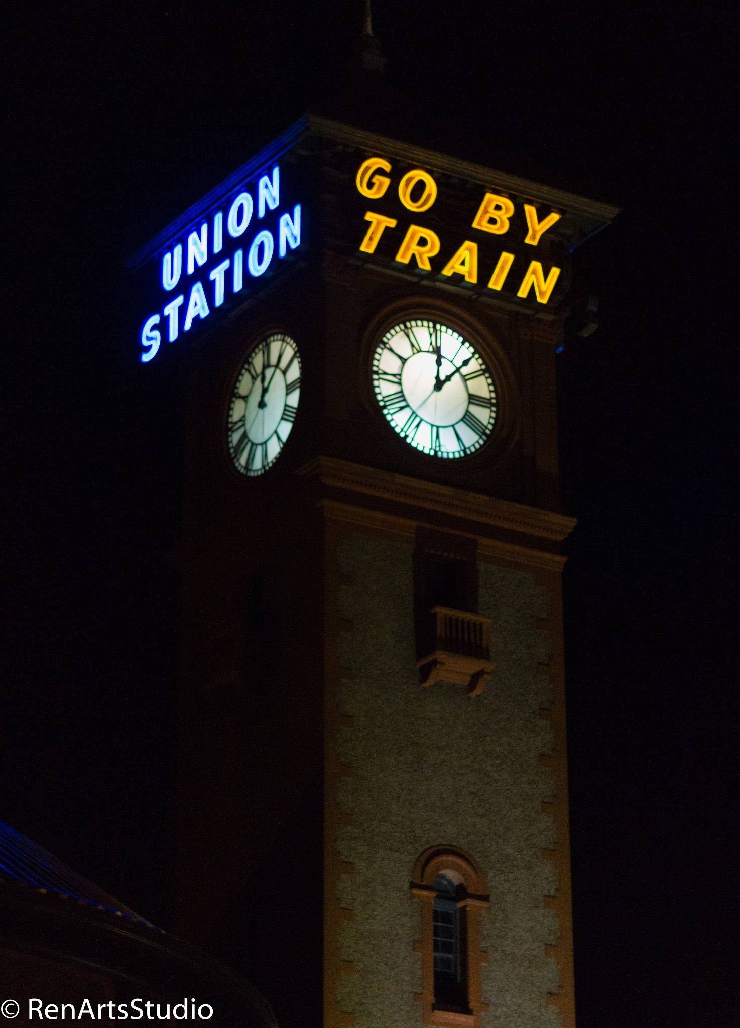 The Station at Night by renman1