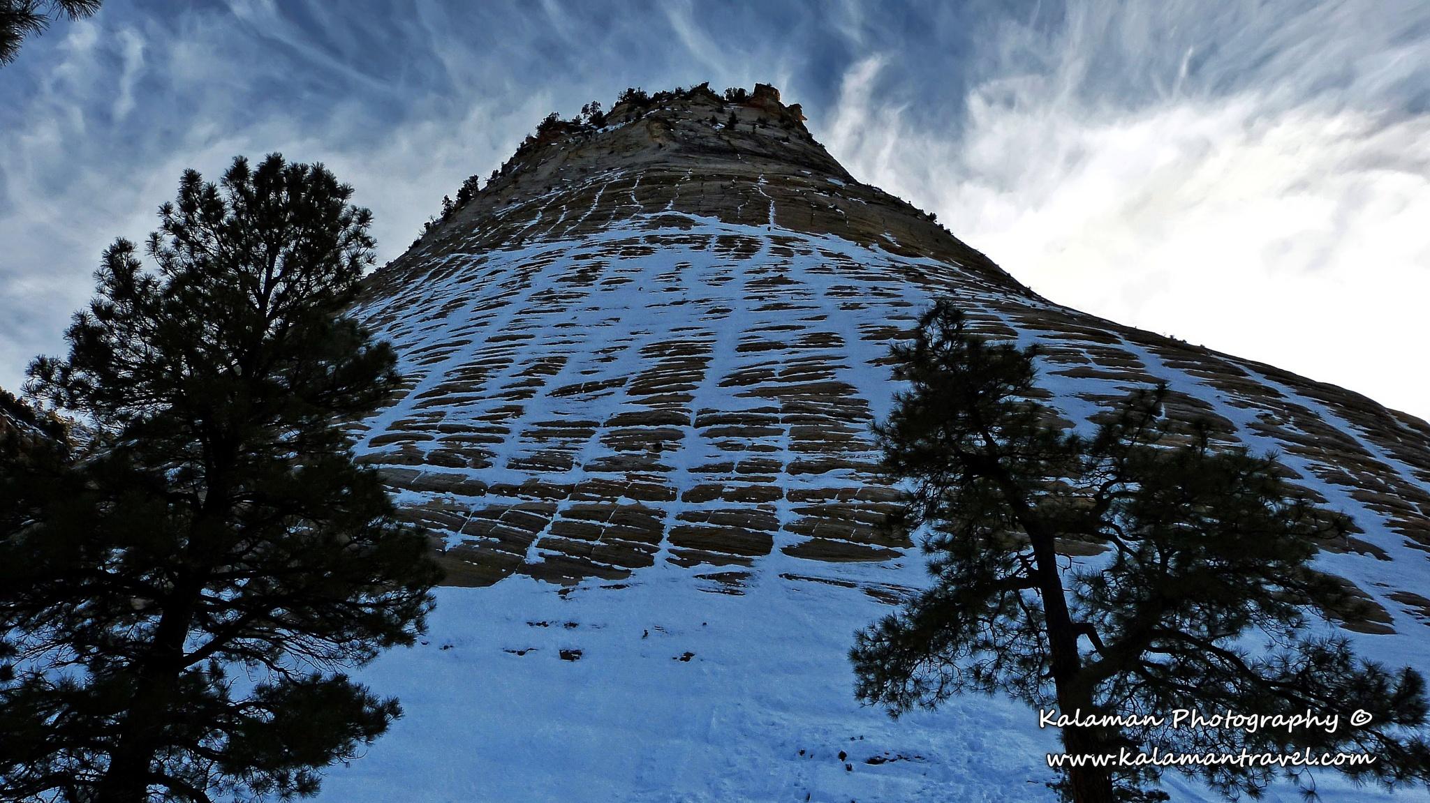 Checkerboard Mesa - Zion NP by Kalaman Photography