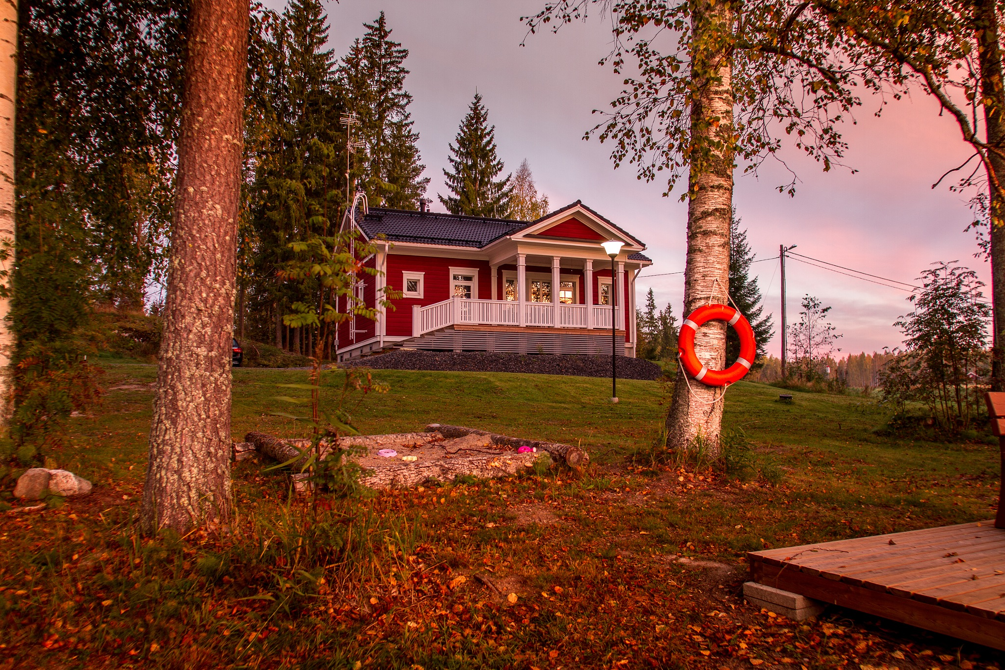 Cabin in the Dawn Light. by Scottmcc