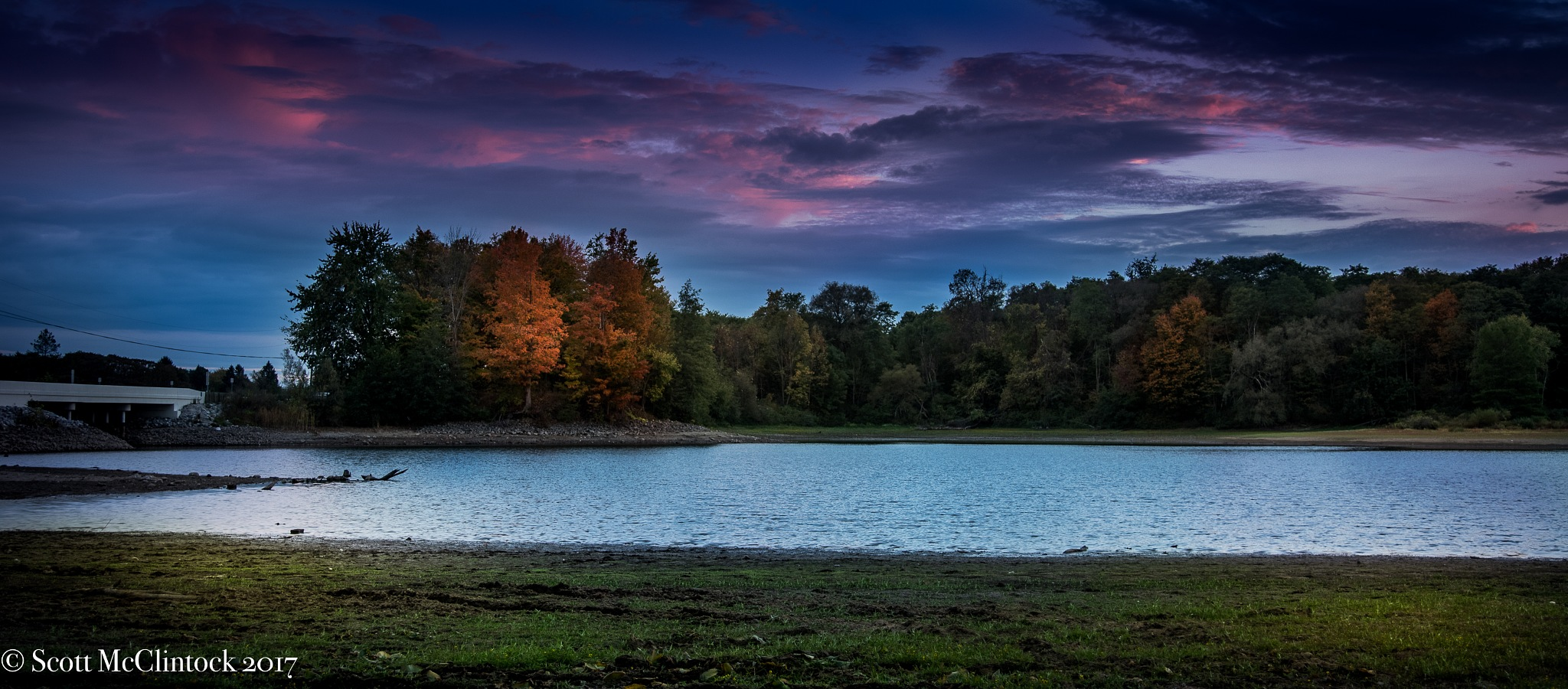 Fall Sunset at Ladue  by Scottmcc