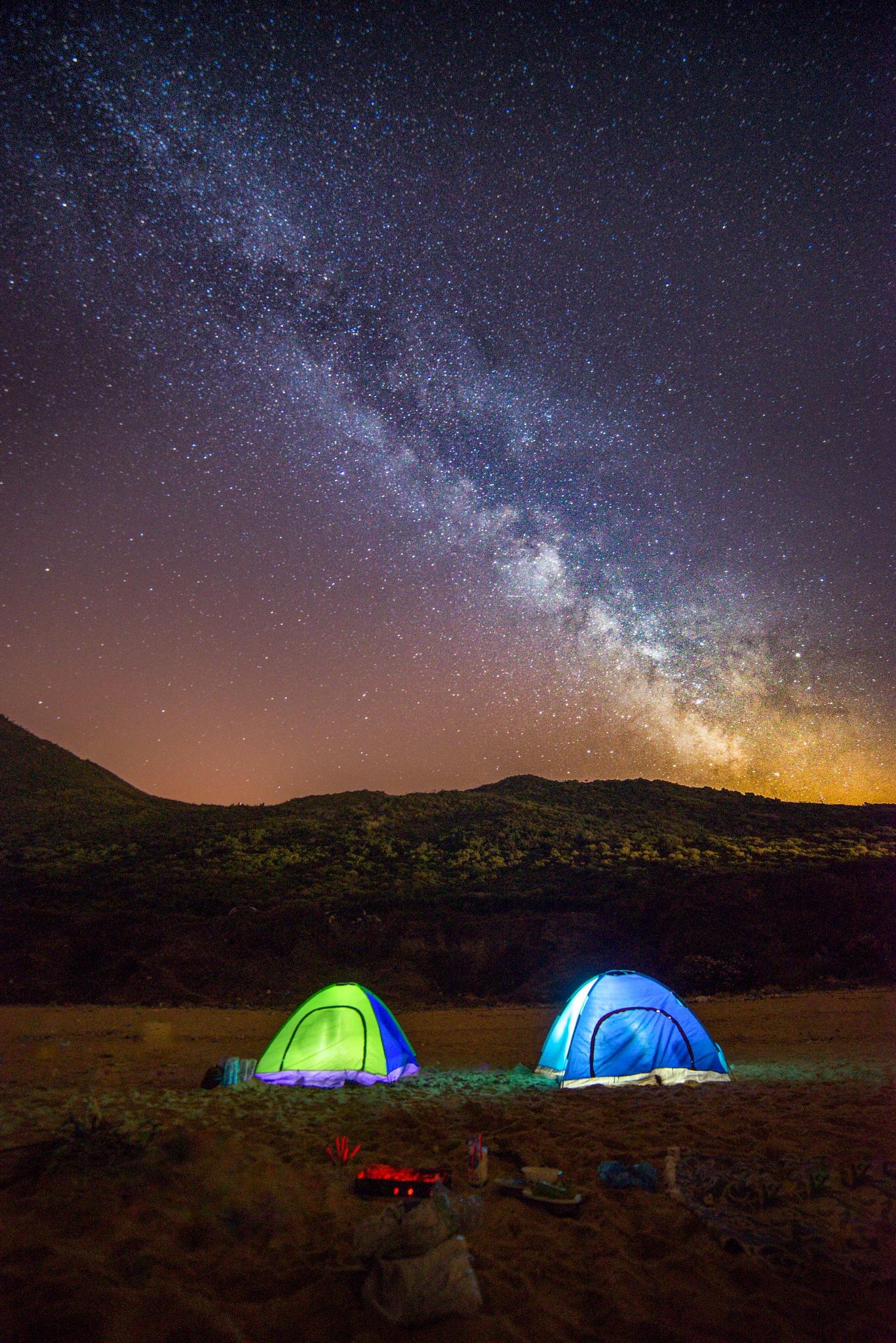 milky way camping by wail