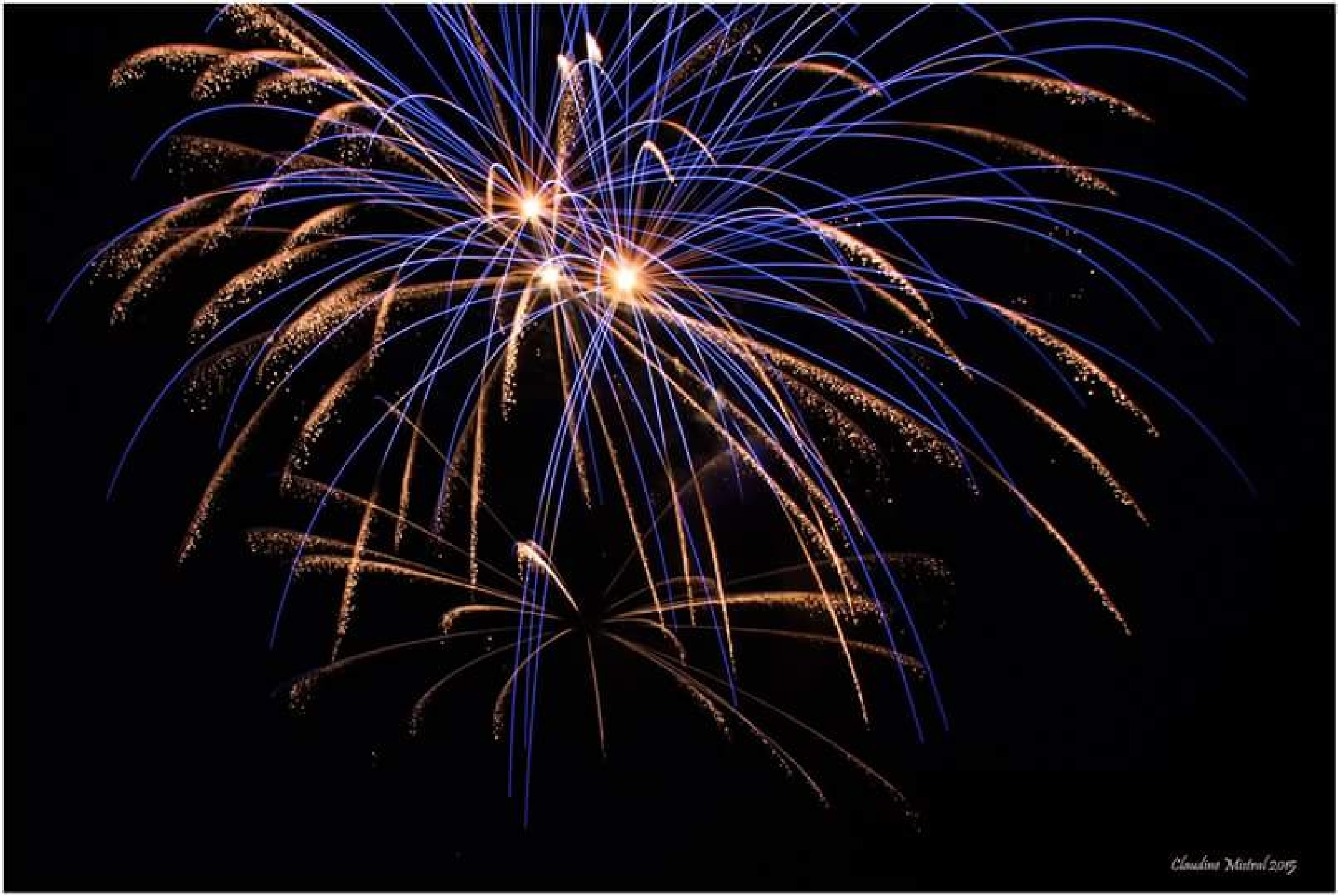 Feu d'artifice by Claudine Mistral