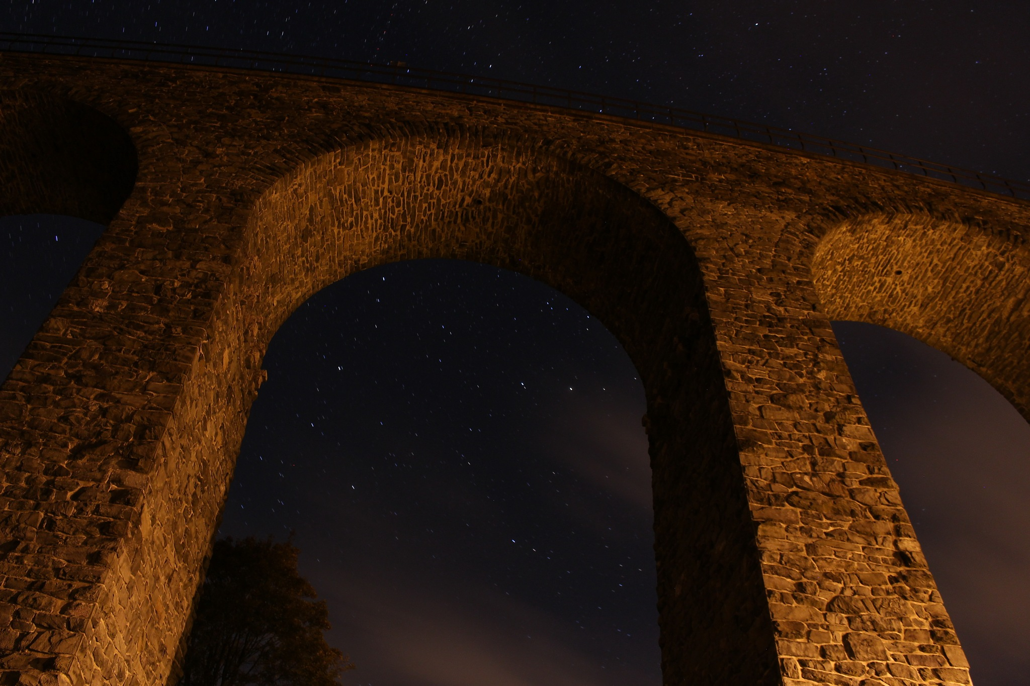 Viaduct of Novina by night by Petr Poláček