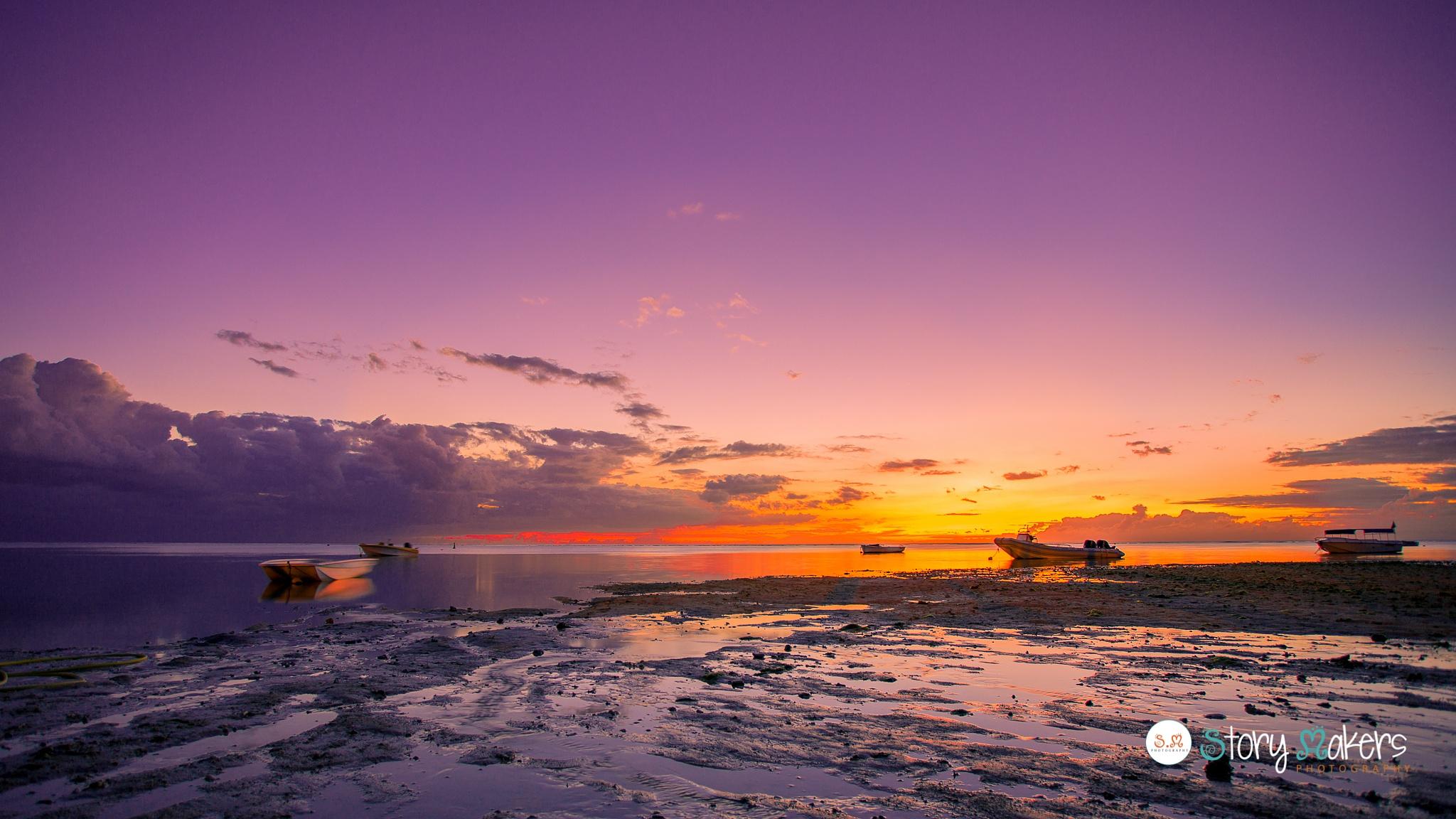My island Mauritius Sunset by Nauseen Taher