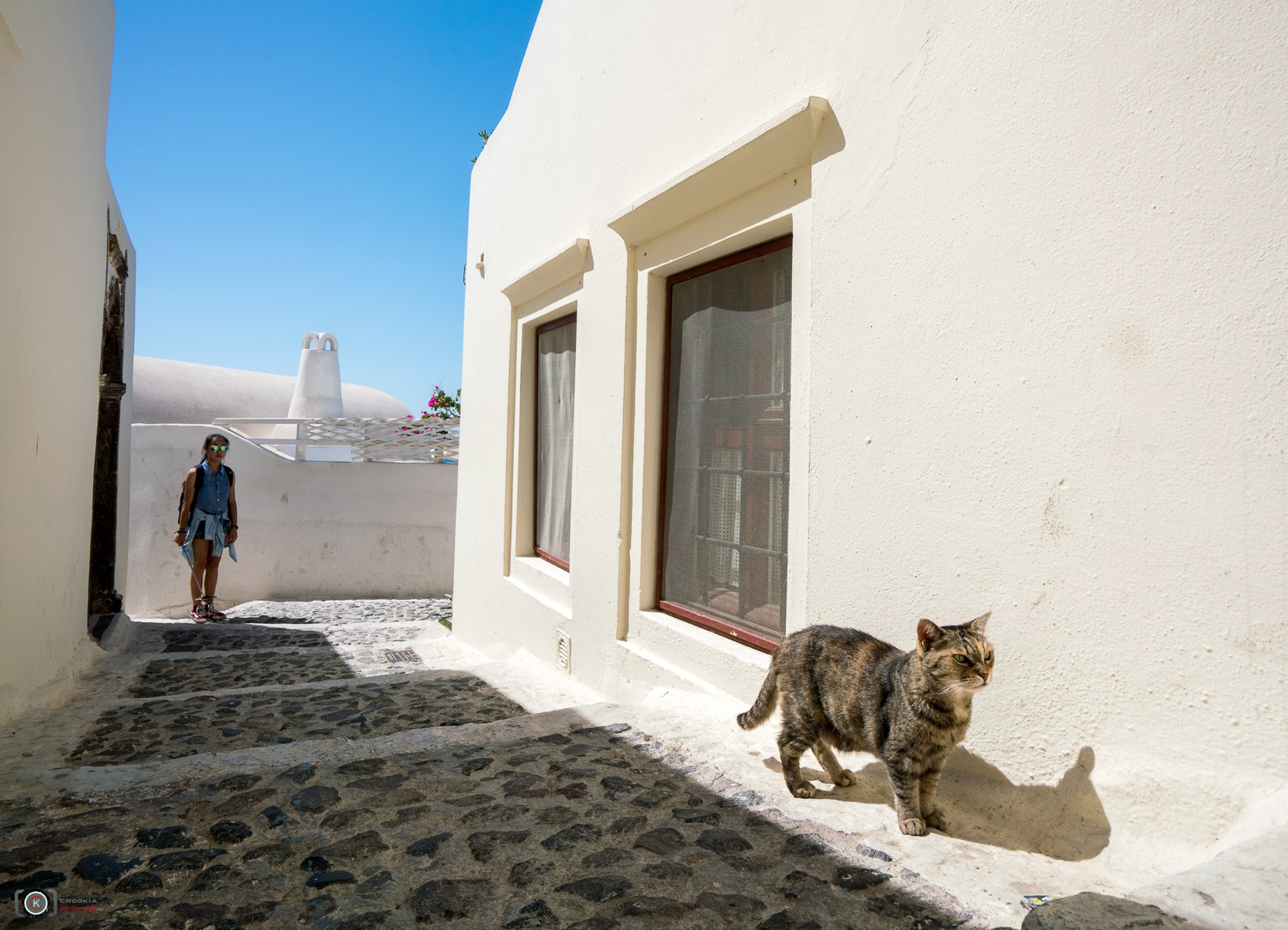 "Any Happen ?? II Santorini-Greece ""人生過客匆匆,相機抓住每個剎那,與我擦肩而過的人"" by chookia"