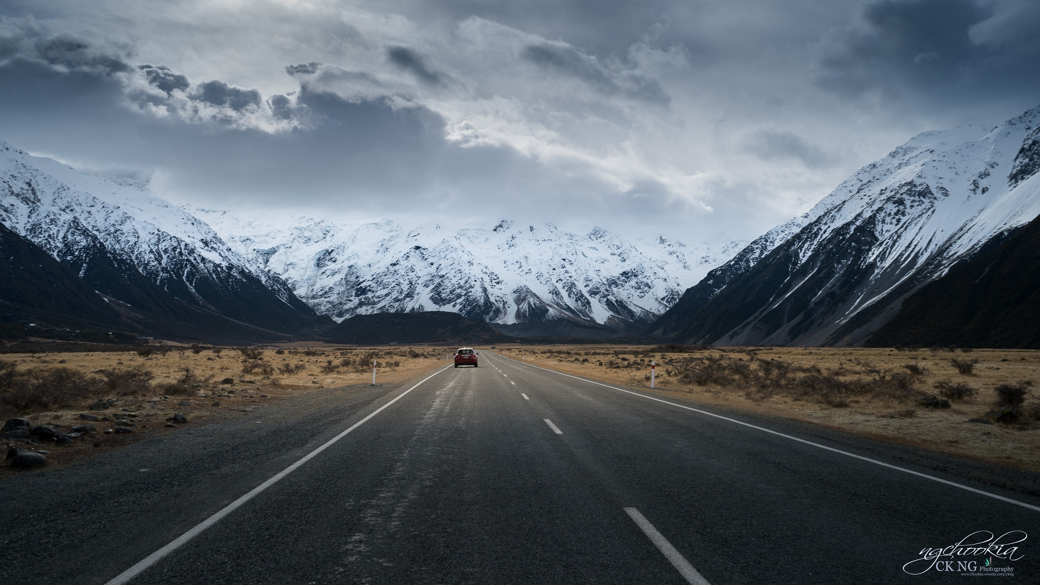 Road To Mt Cook II Canterbury NZ by chookia