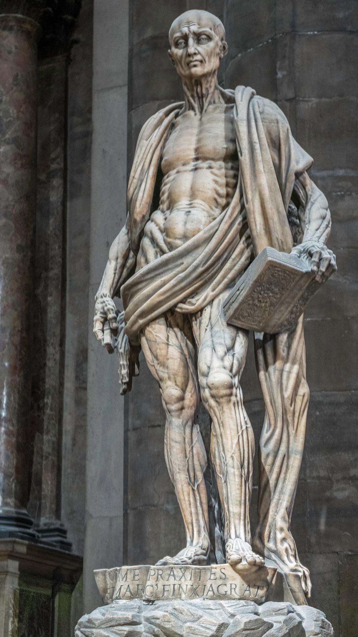 Sculpture of St. Bartholomew by Jose Manuel Navarro