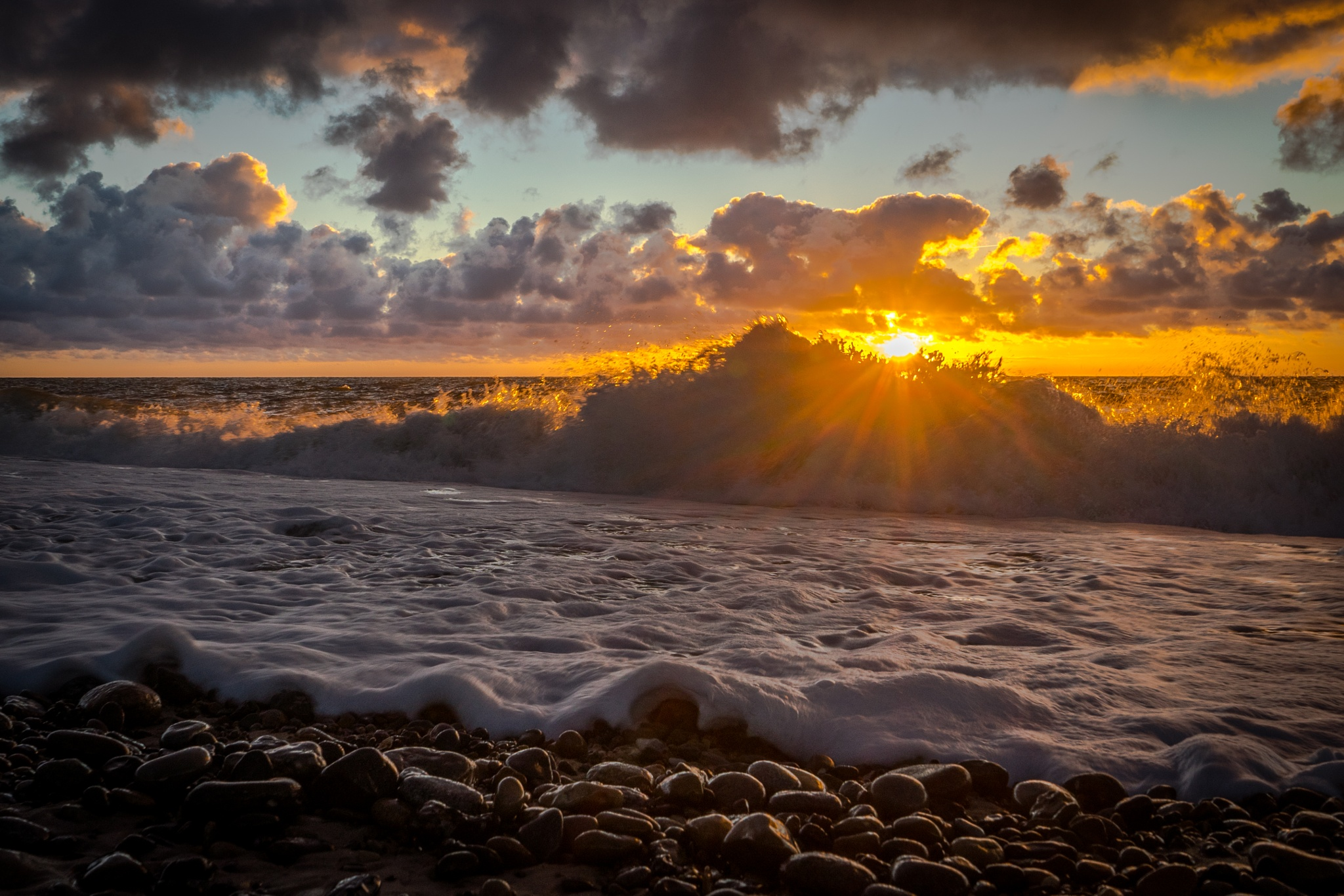 Water in the Sunset by Morten Thomsen