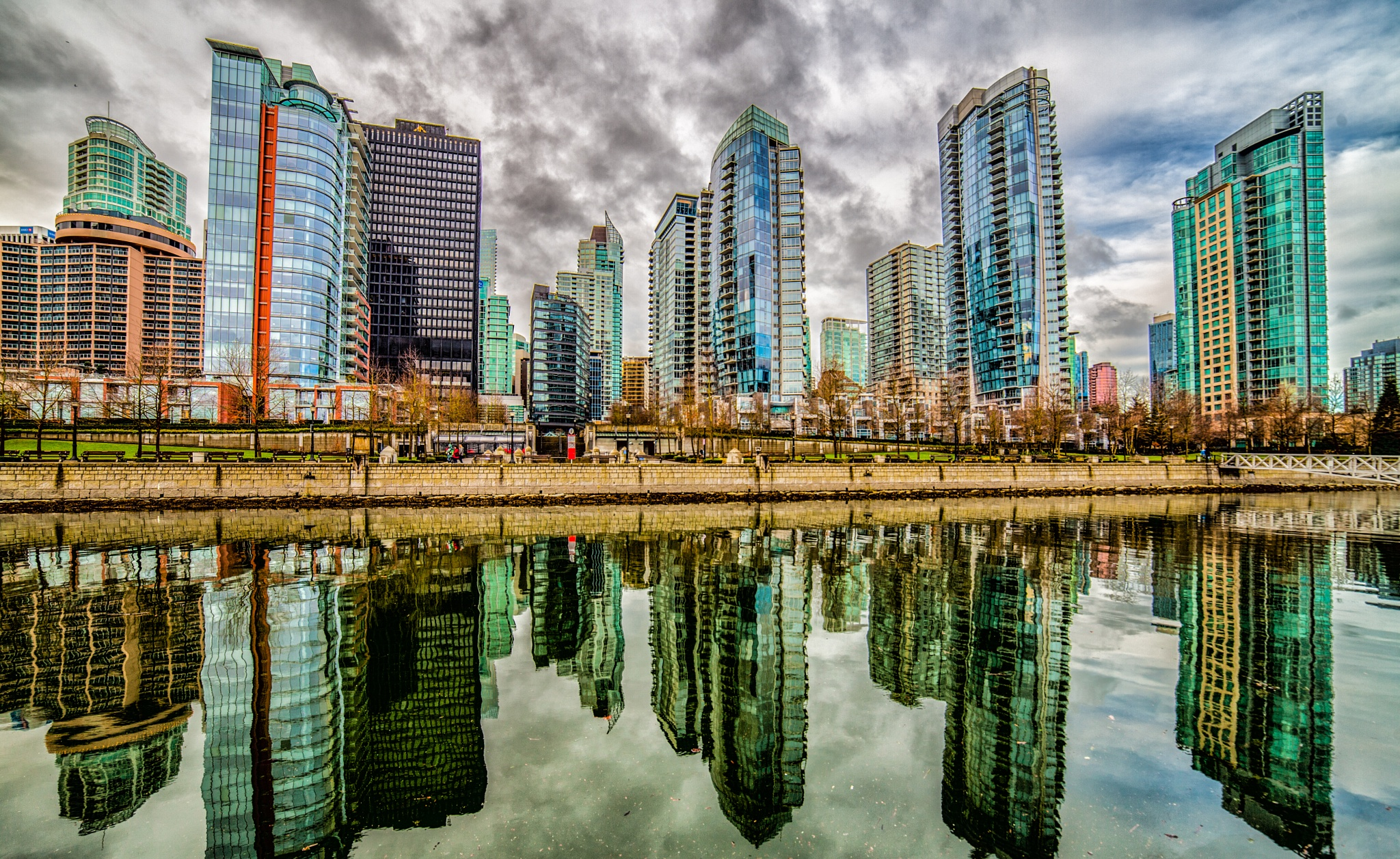 Morning Reflections Of Vancouver by John Watson