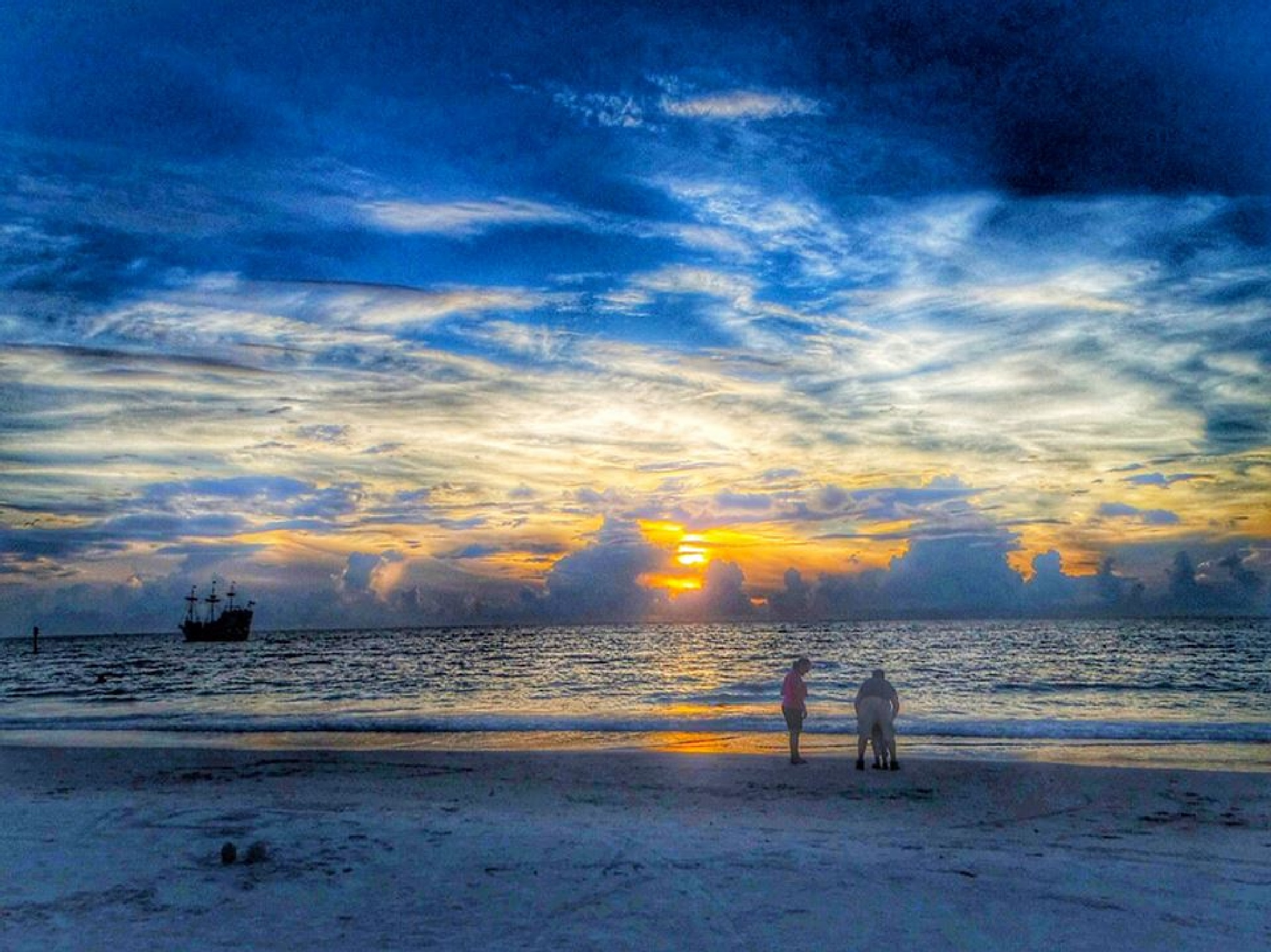 Clearwater beach sunset by Jeffrey Morello