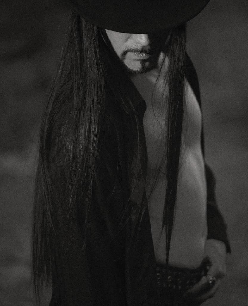 Photo in Portrait #man #model #male #portrait #face #fashion #body #hair #light #monochrome #black and white