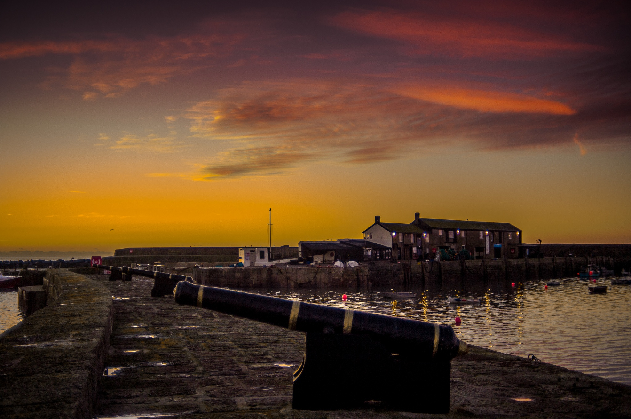 Sunrise at Lyme by Russell Clarke