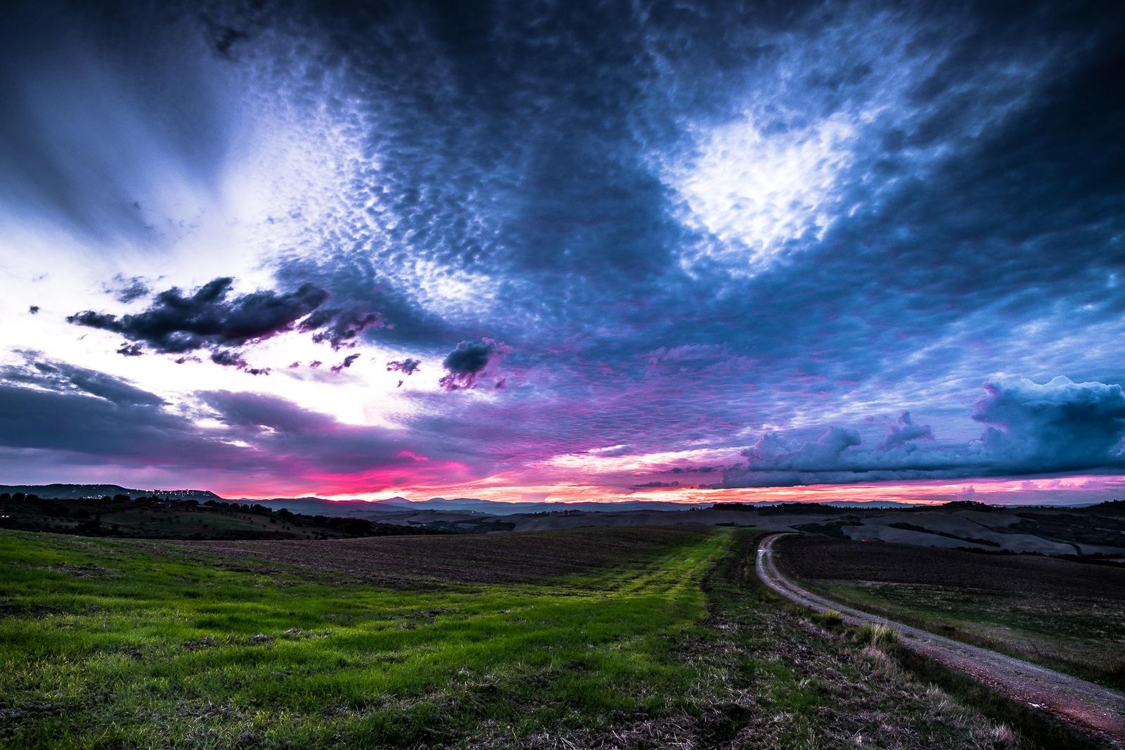 Blue Autumnal Sunset by Francesco Monari