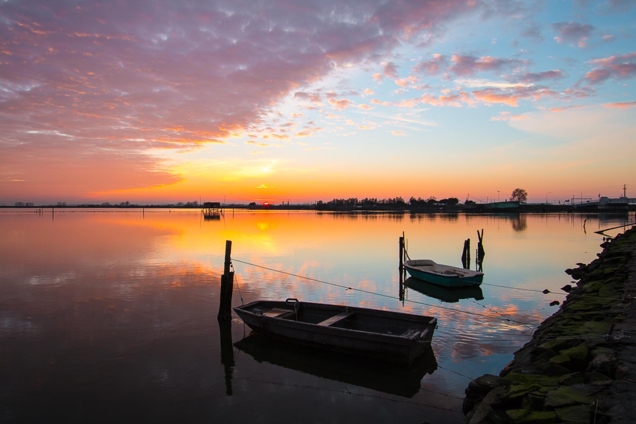 lagoon sunset by Francesco Monari