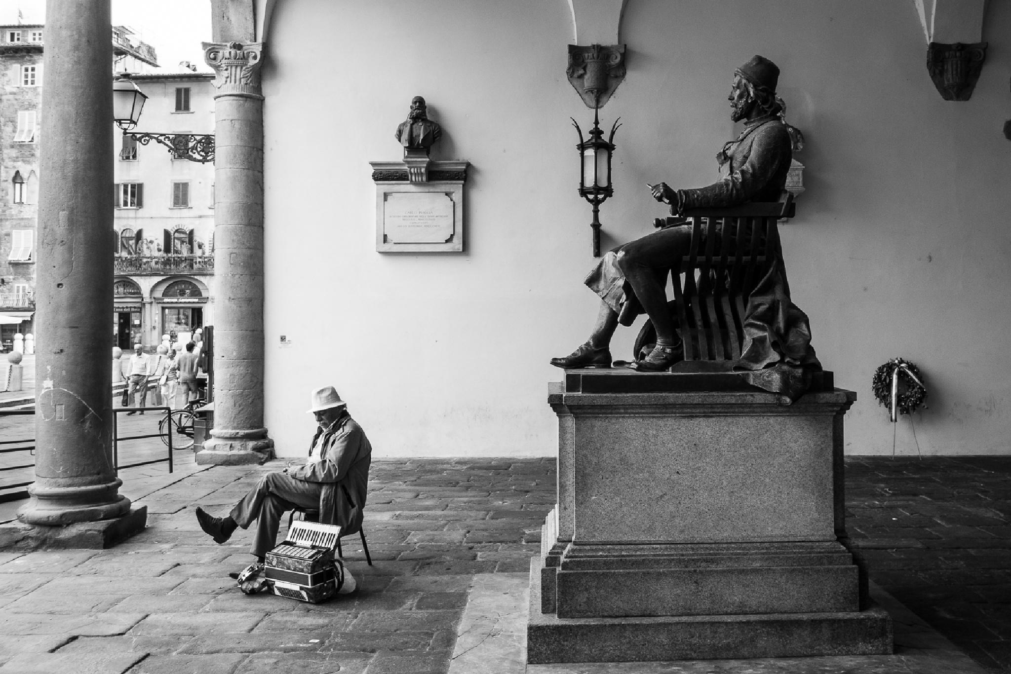 sitting by Francesco Monari