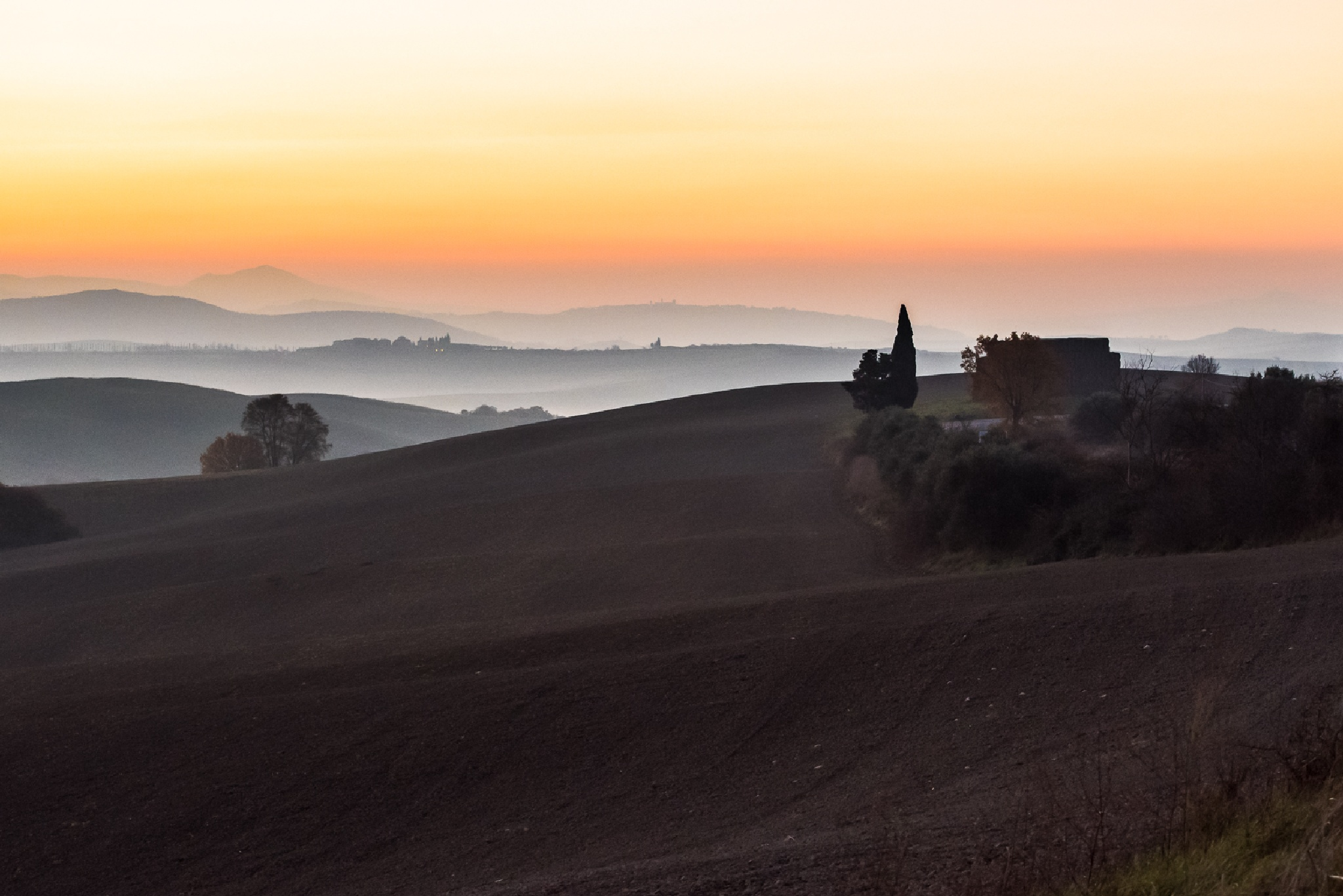 Val d'orcia suset by Francesco Monari
