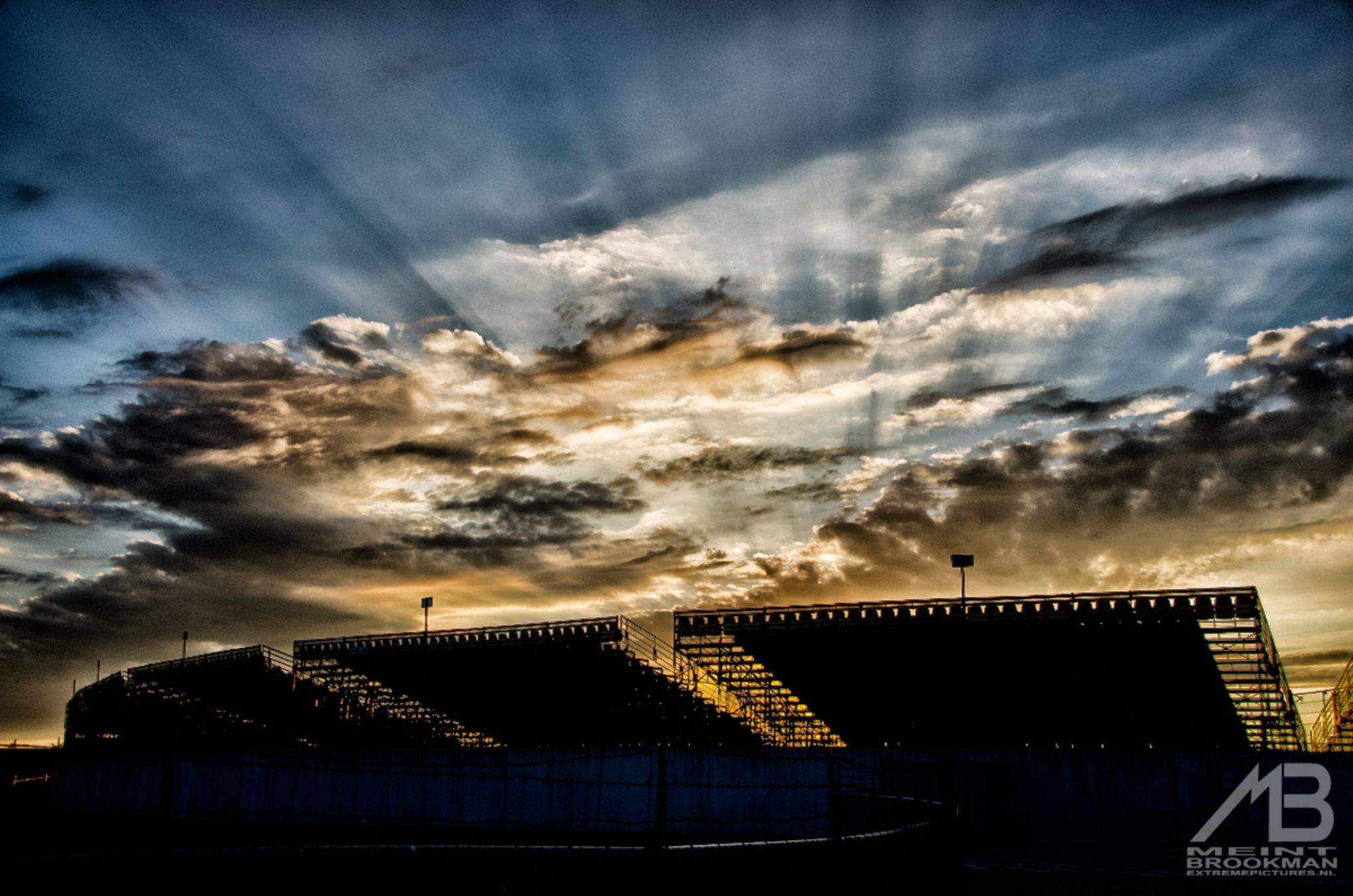 Dutch TT track in the evening  by Meint Brookman