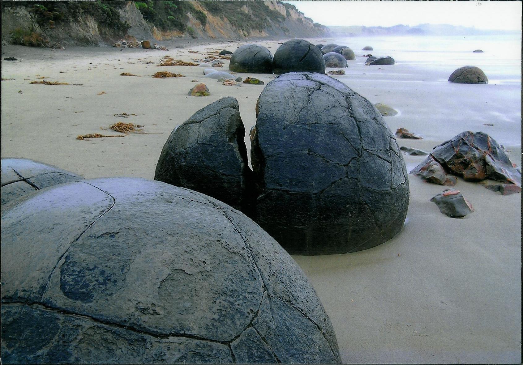 Moeraki Boulders by Luigi Cappel