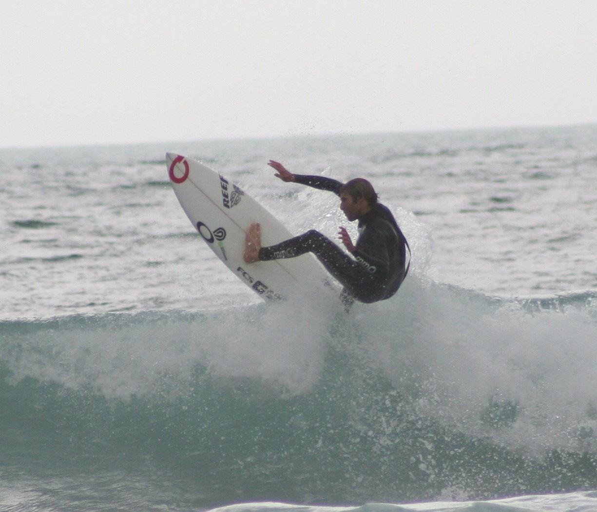 Surfer mid flight by Luigi Cappel