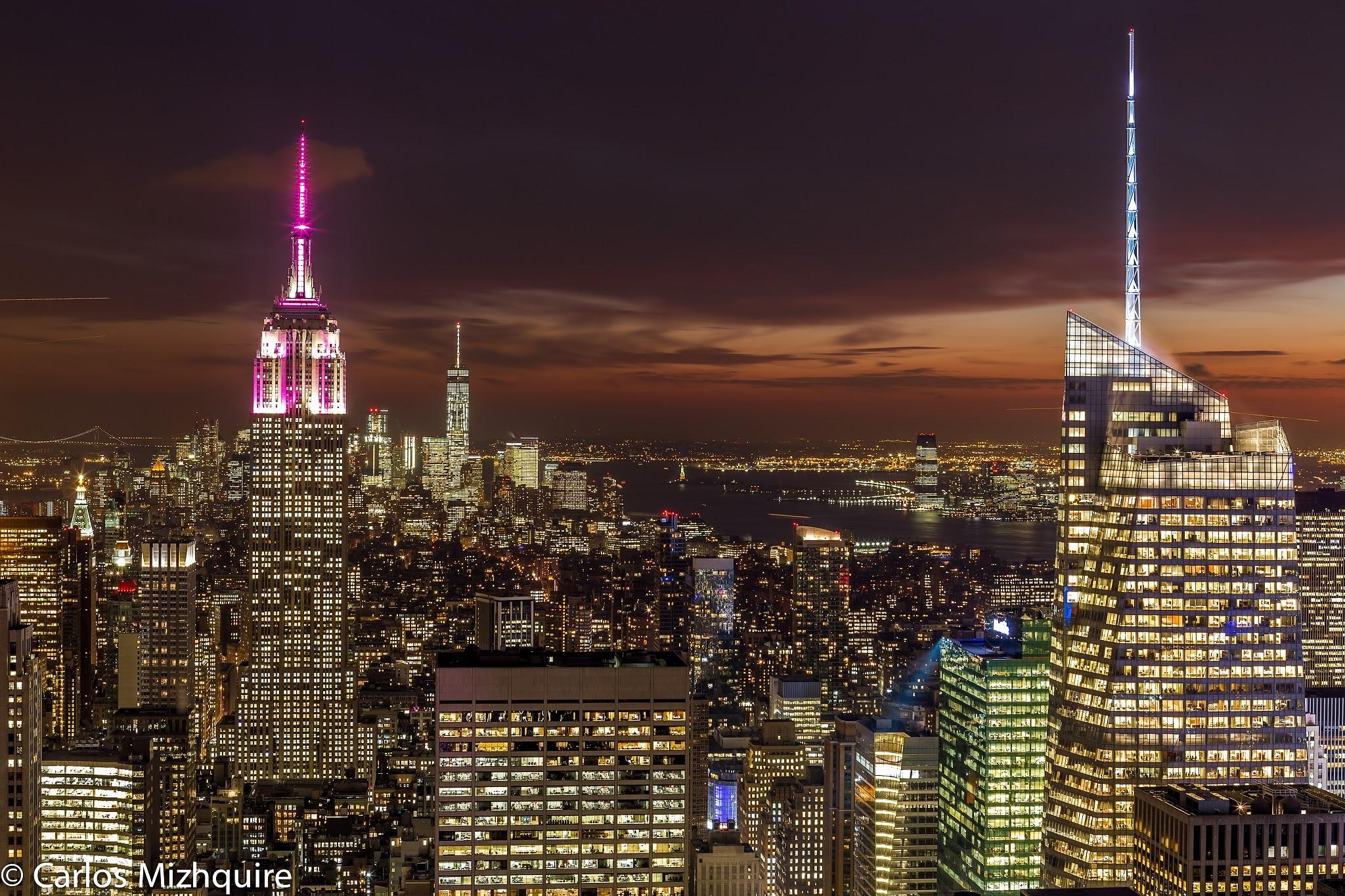 NYC at sunset  by carloscms79