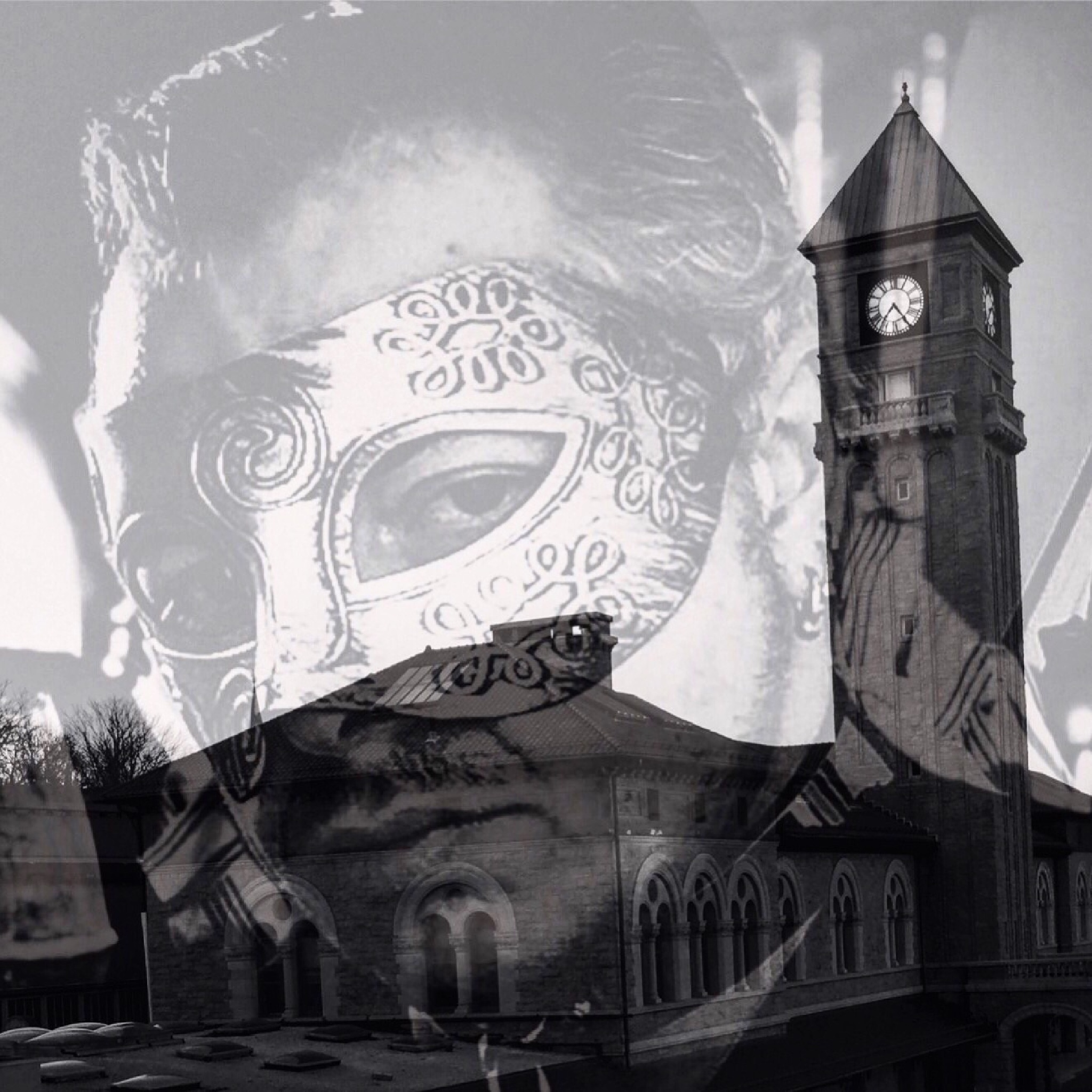 The Phantom Watches Over The Clock Tower  by Devin Cherubini