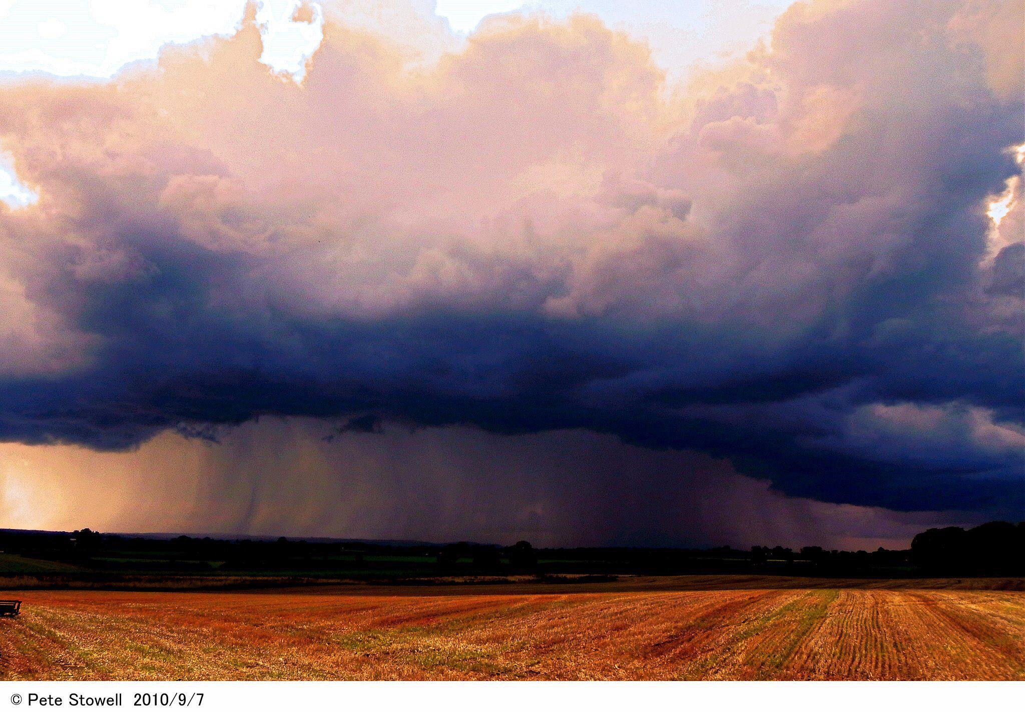 Cloud burst by Peter Stowell