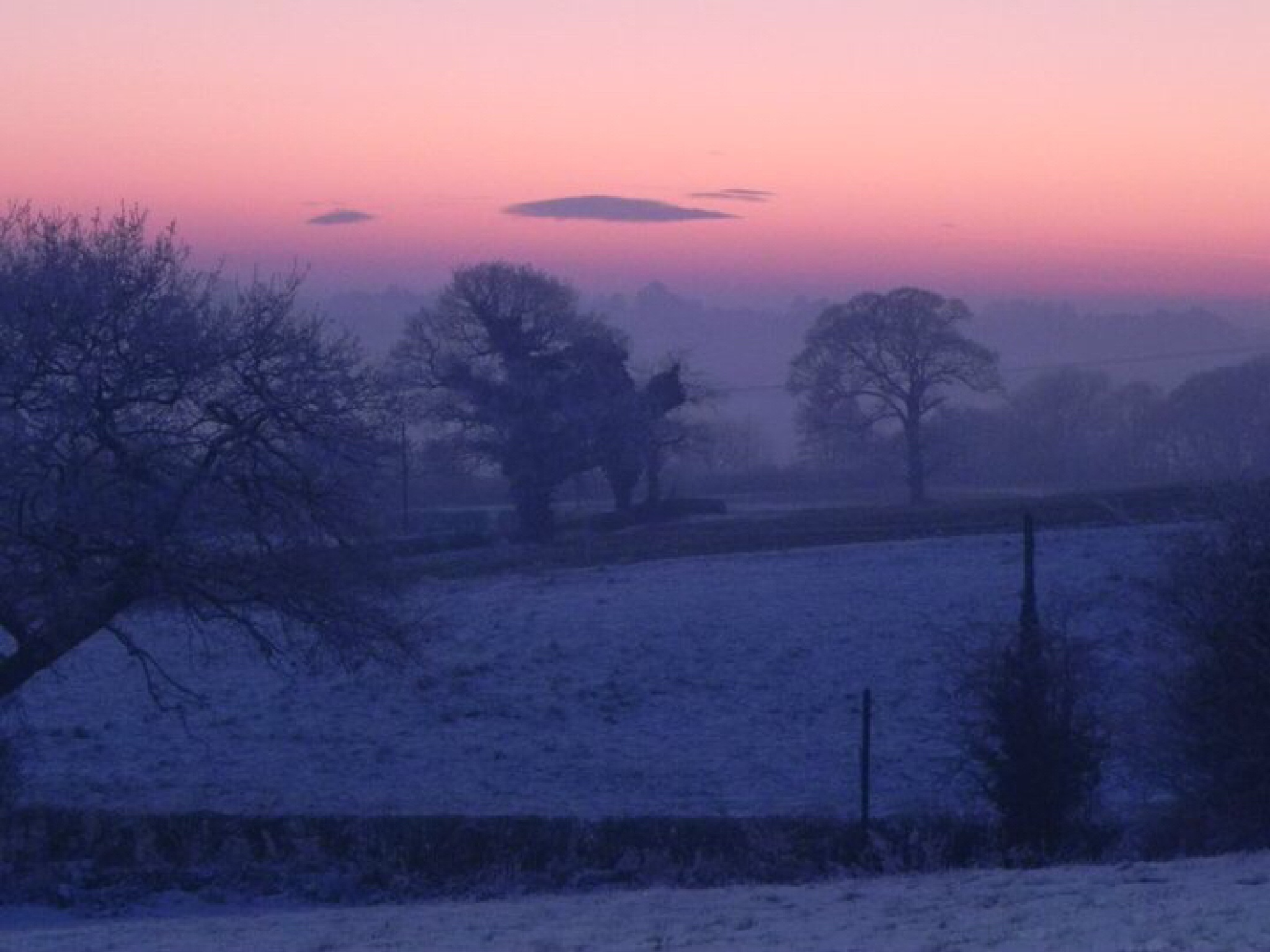 Winter sunset by Peter Stowell