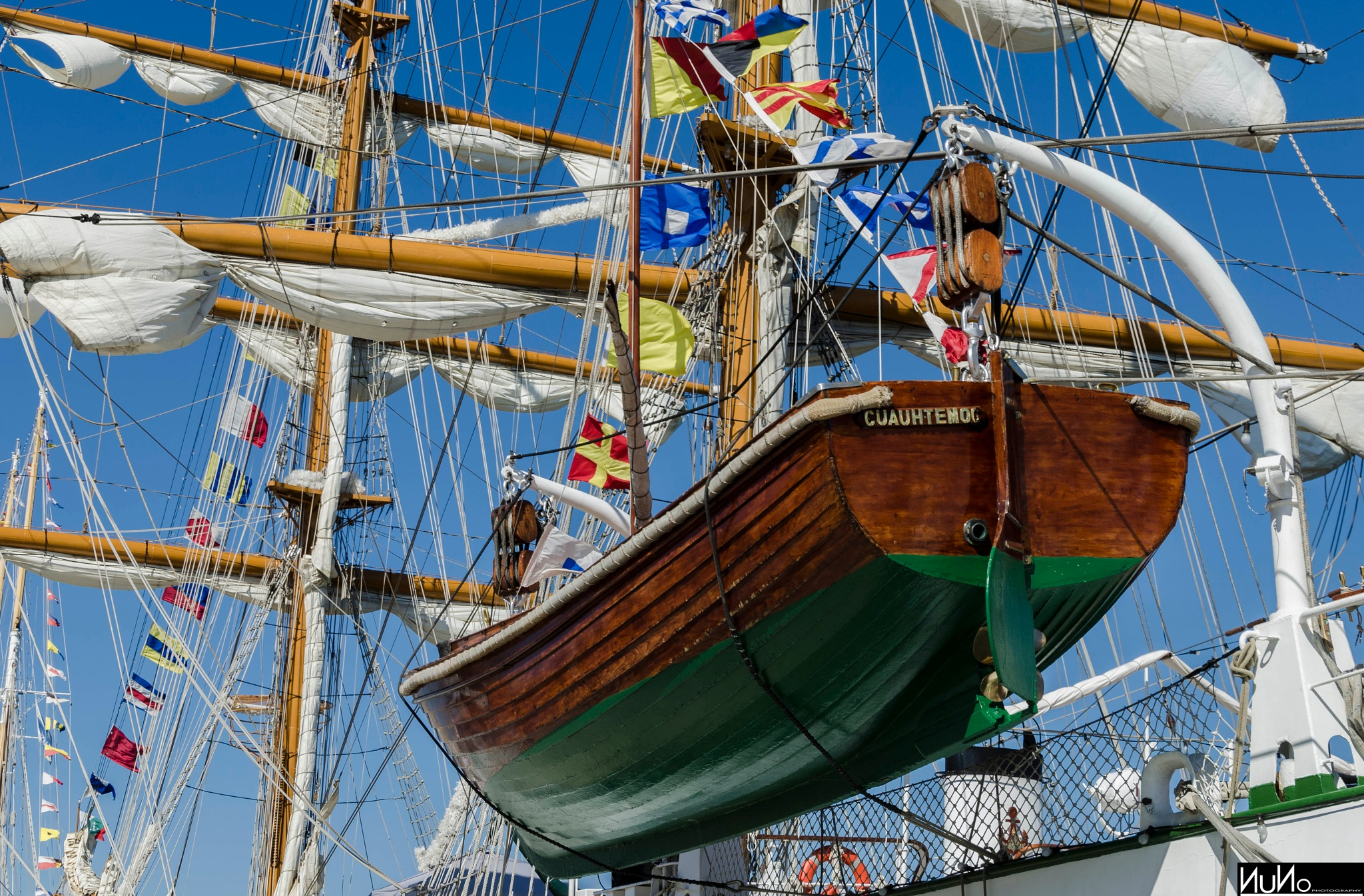 Mexican Ship In Lisbon by Nuno M. S. Martins