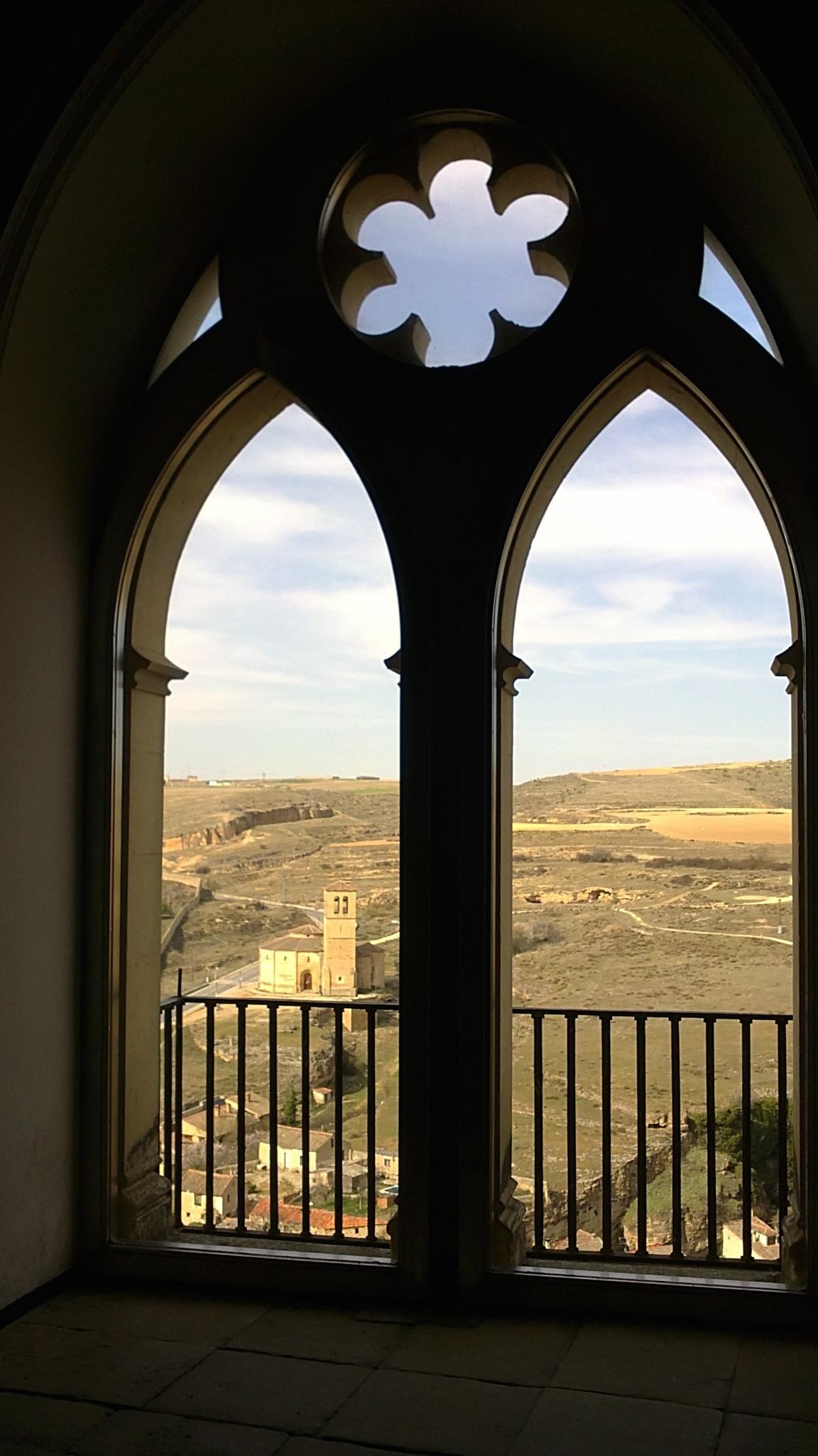 Look through the Alcazar of Segovia by Omar H Mahgoub