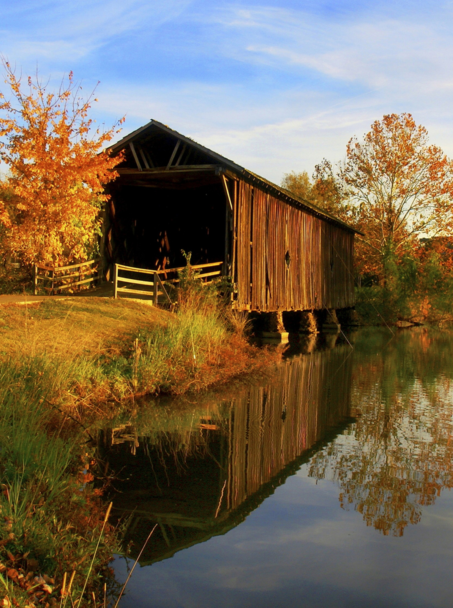 Alamucha Creek Covered Bridge by mfontaine