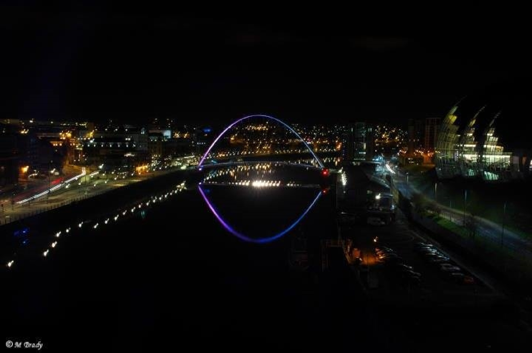 view from a bridge by Michael Brady